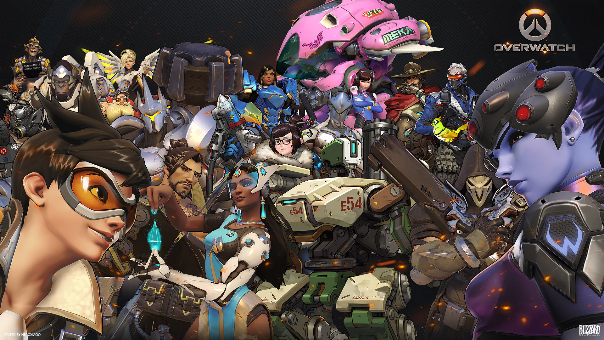 Overwatch Characters Wallpaper 1080p 2267402 Hd