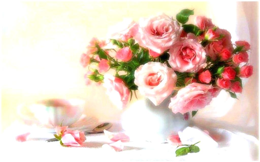 Flower Painting Hd , HD Wallpaper & Backgrounds