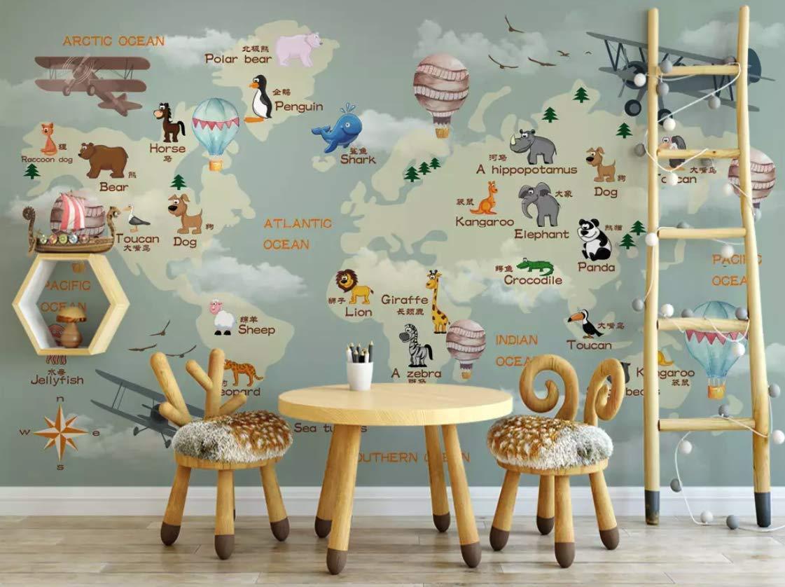 World Map Kid Room , HD Wallpaper & Backgrounds