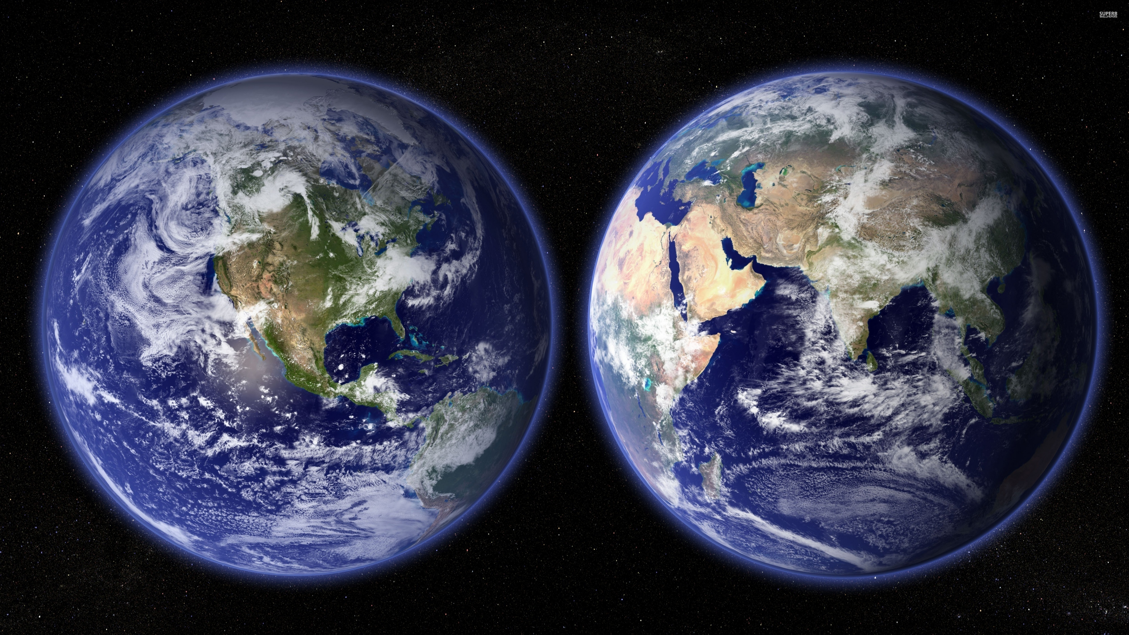 Two Earth , HD Wallpaper & Backgrounds
