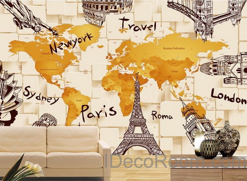 World Map Wallpaper For Wall , HD Wallpaper & Backgrounds
