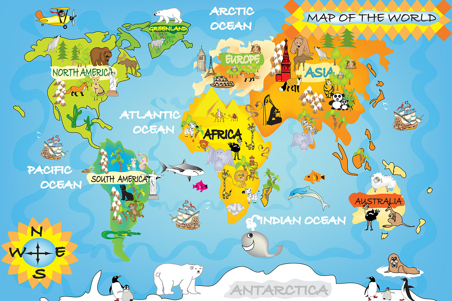 World Map A3 Size , HD Wallpaper & Backgrounds