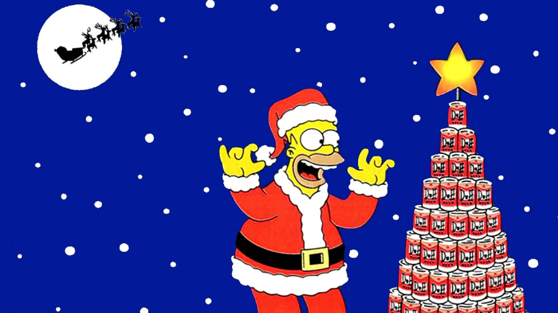 Imagenes De Navidad Simpsons 2294388 Hd Wallpaper