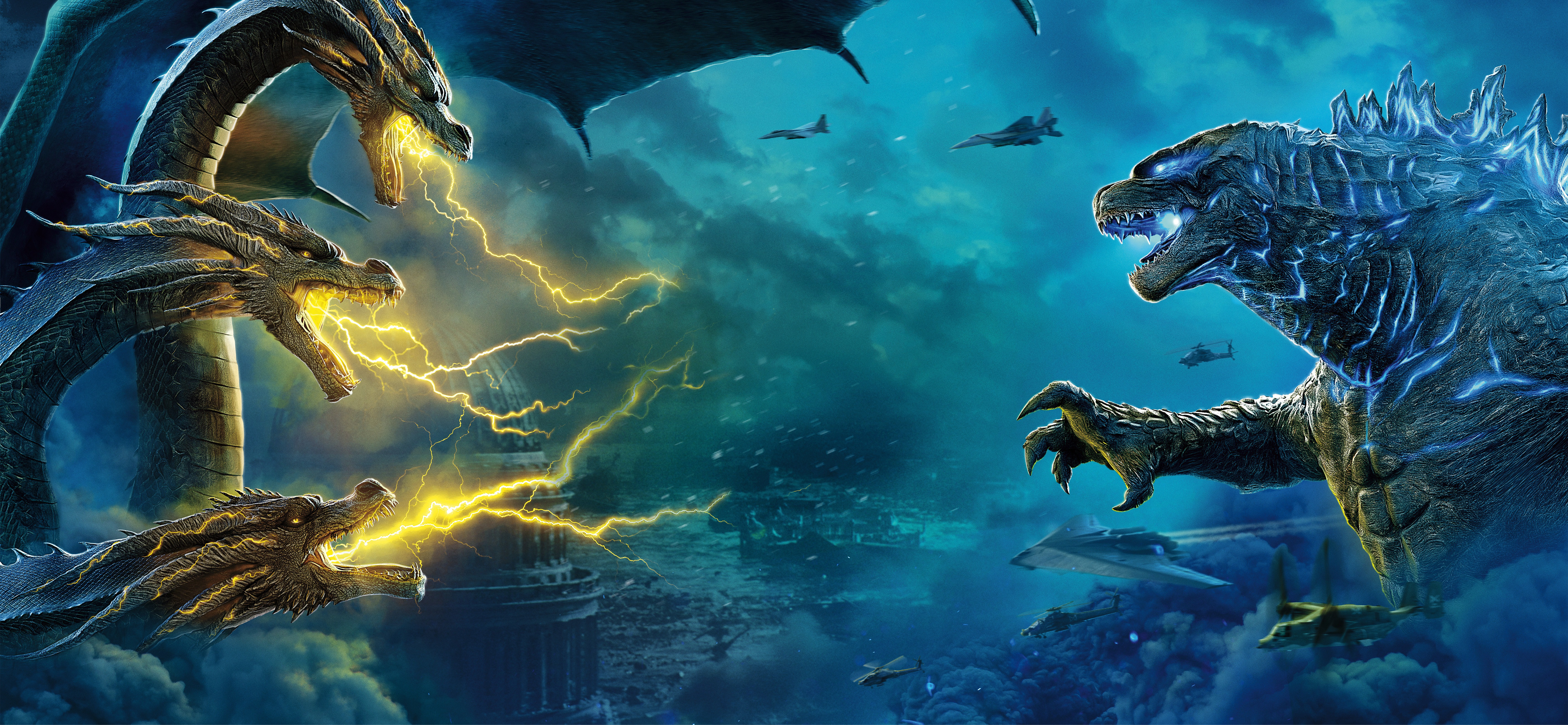Godzilla King Of The Monsters Banner 2295999 Hd Wallpaper