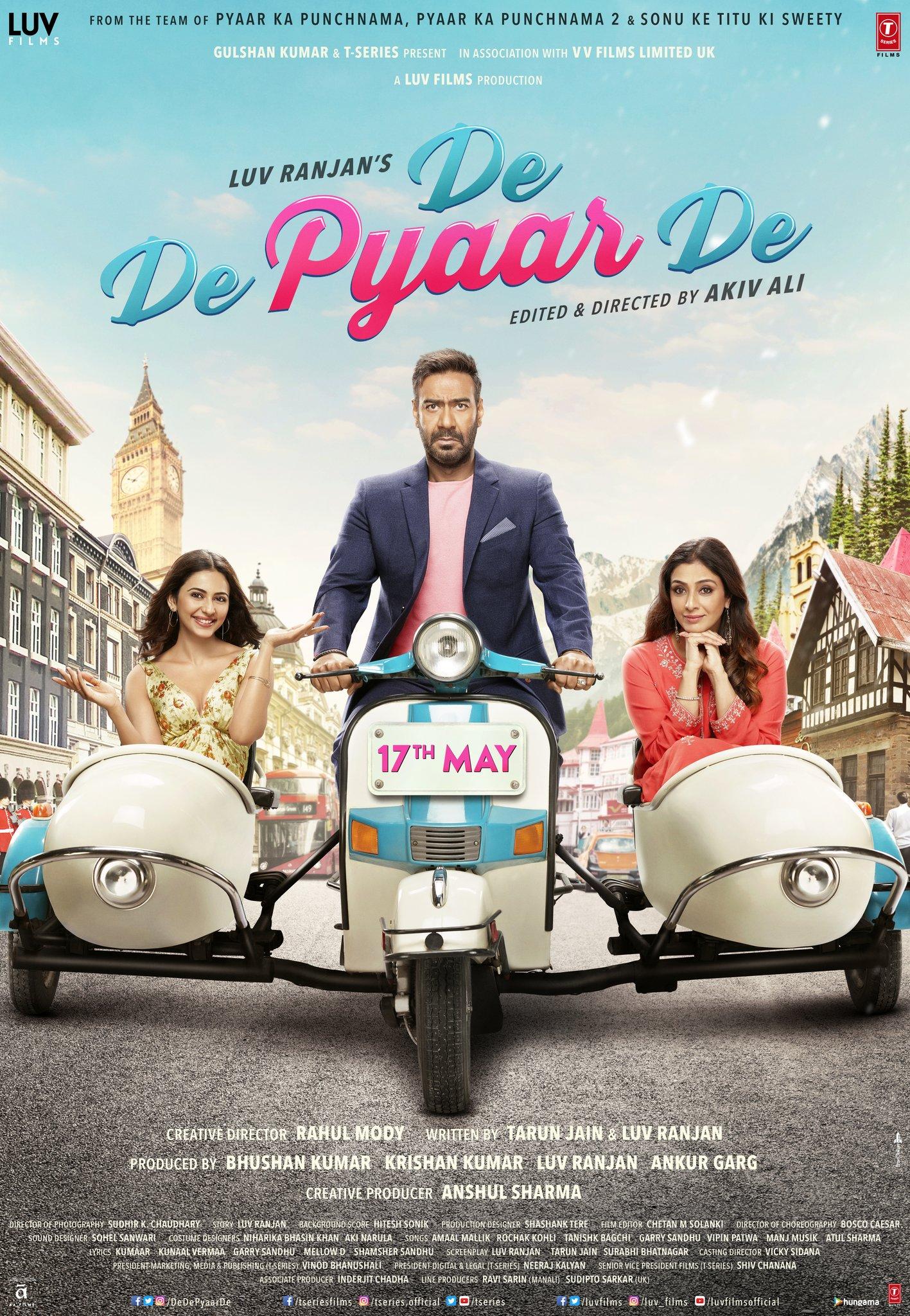 De De Pyaar De Poster , HD Wallpaper & Backgrounds