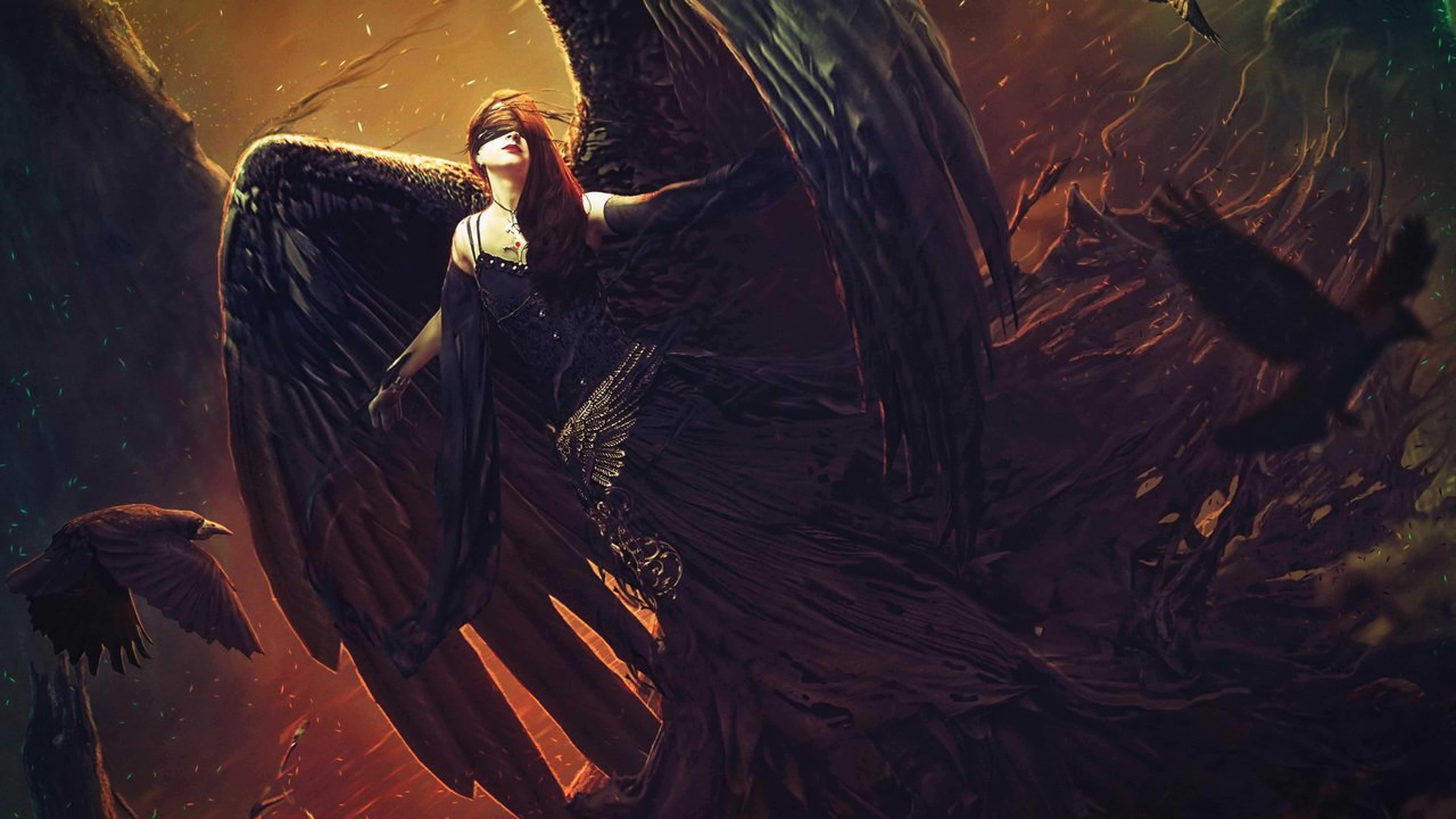 Dark Angel Fantasy Art , HD Wallpaper & Backgrounds