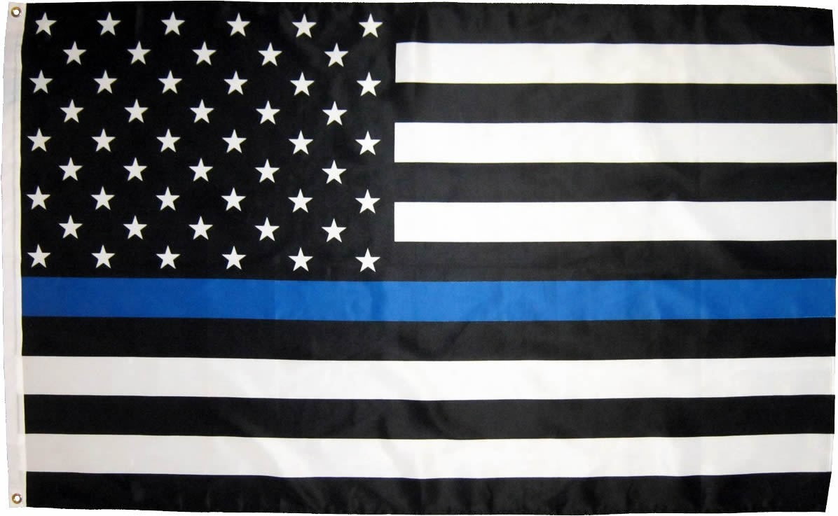 Thin Blue Line Flag Wallpaper Blue And White American Flag