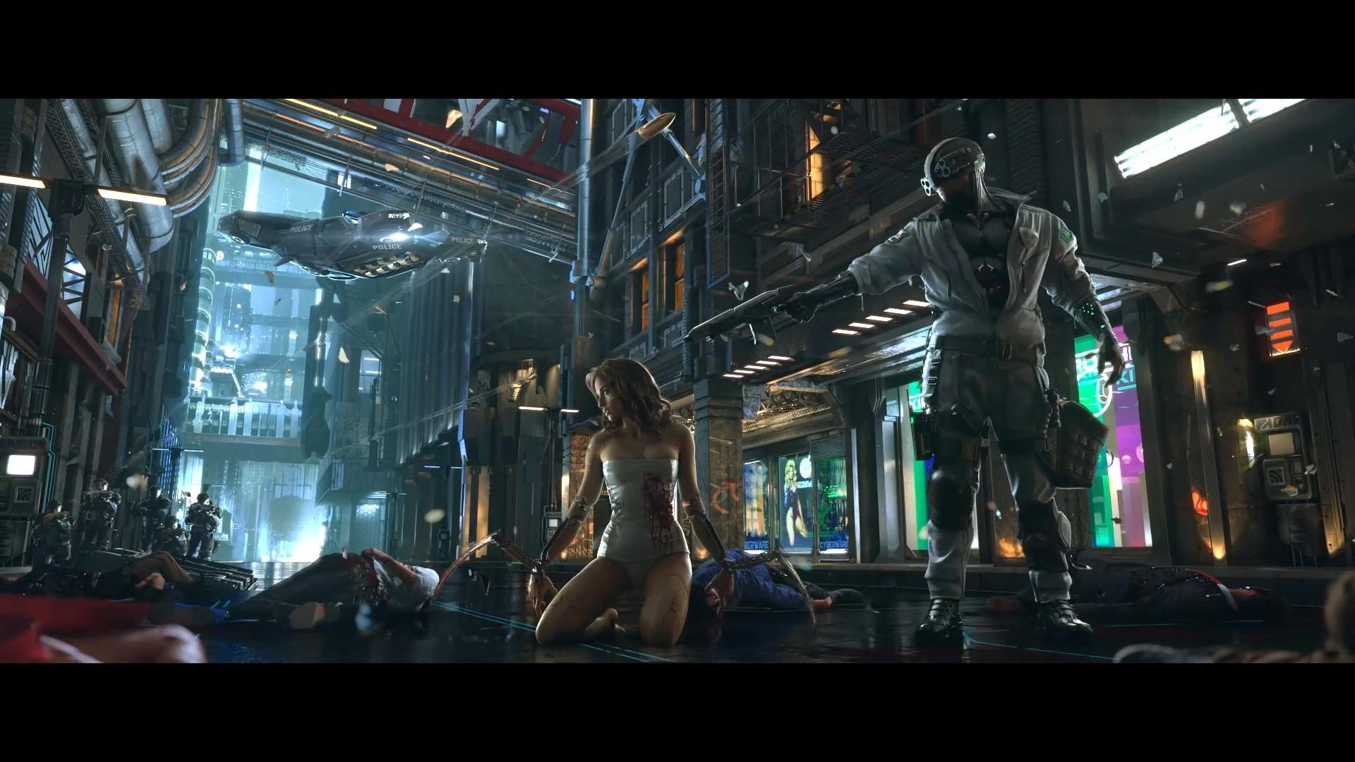 Thin Blue Line Wallpapers - Cyberpunk 2077 Da Cd Projekt Red , HD Wallpaper & Backgrounds
