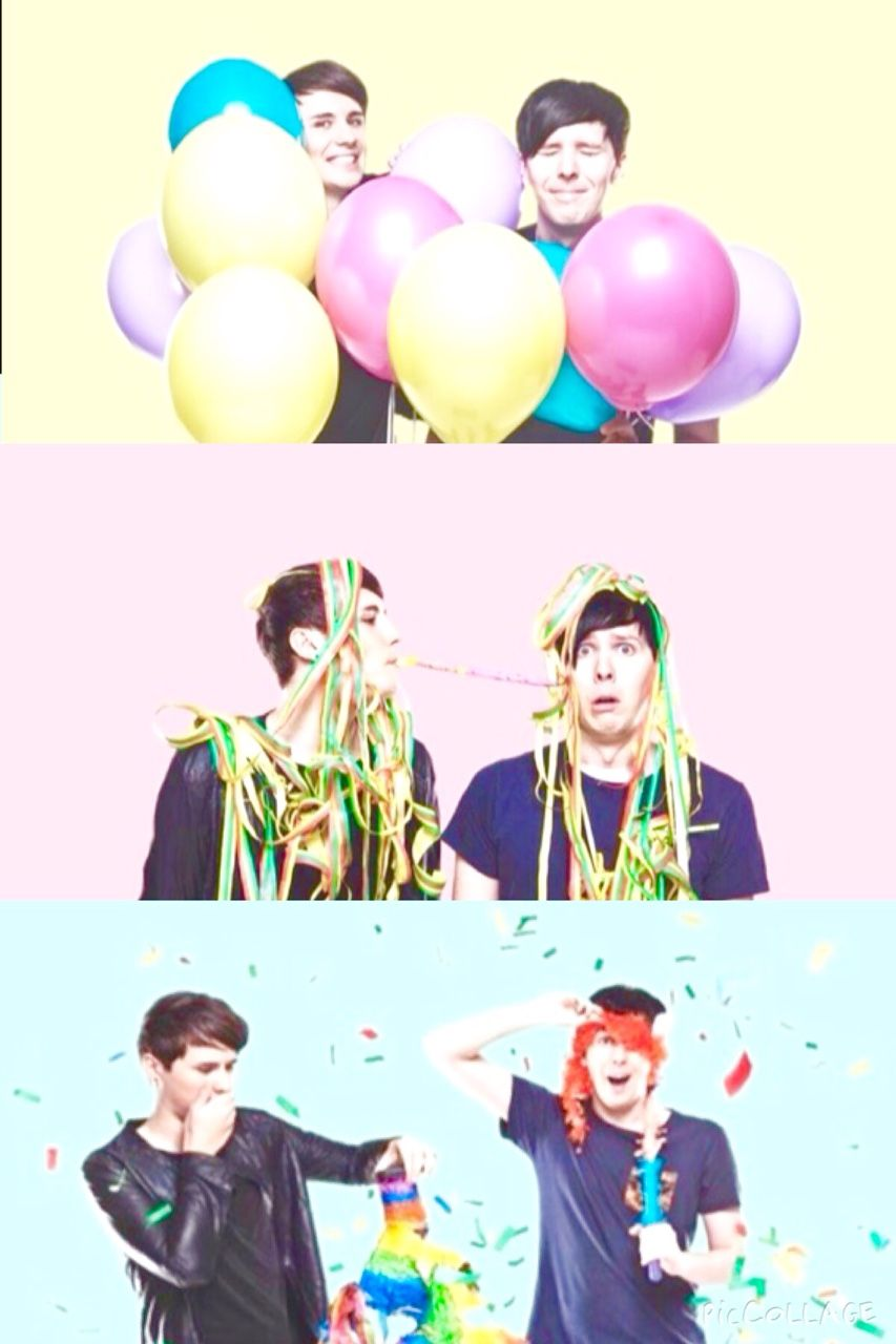 The Second Picture Tho Joey Graceffa, Amazingphil, - Dan And Phil Iphone , HD Wallpaper & Backgrounds