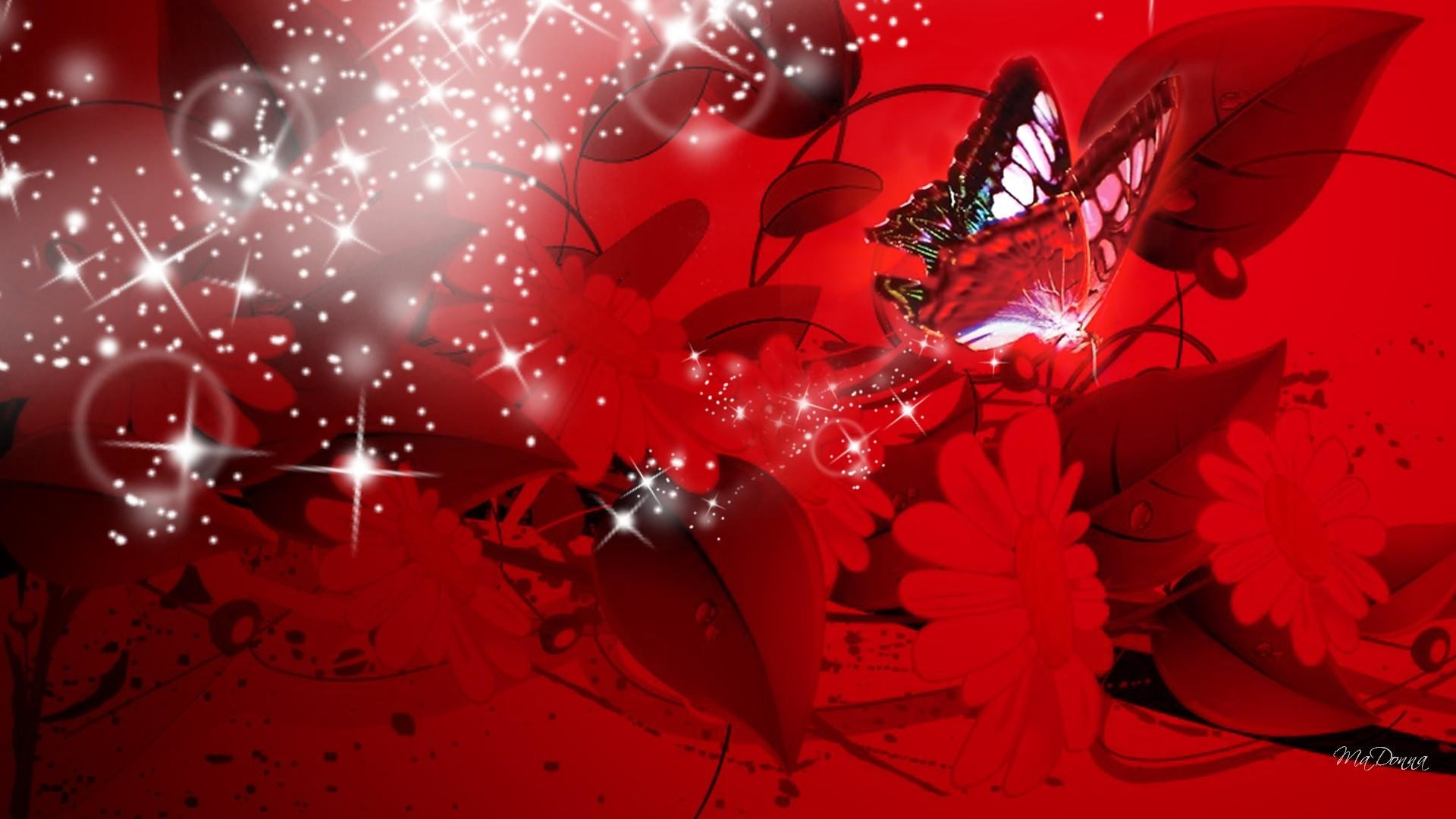 Red Butterfly Wallpaper - Red Butterfly Wallpaper Hd , HD Wallpaper & Backgrounds