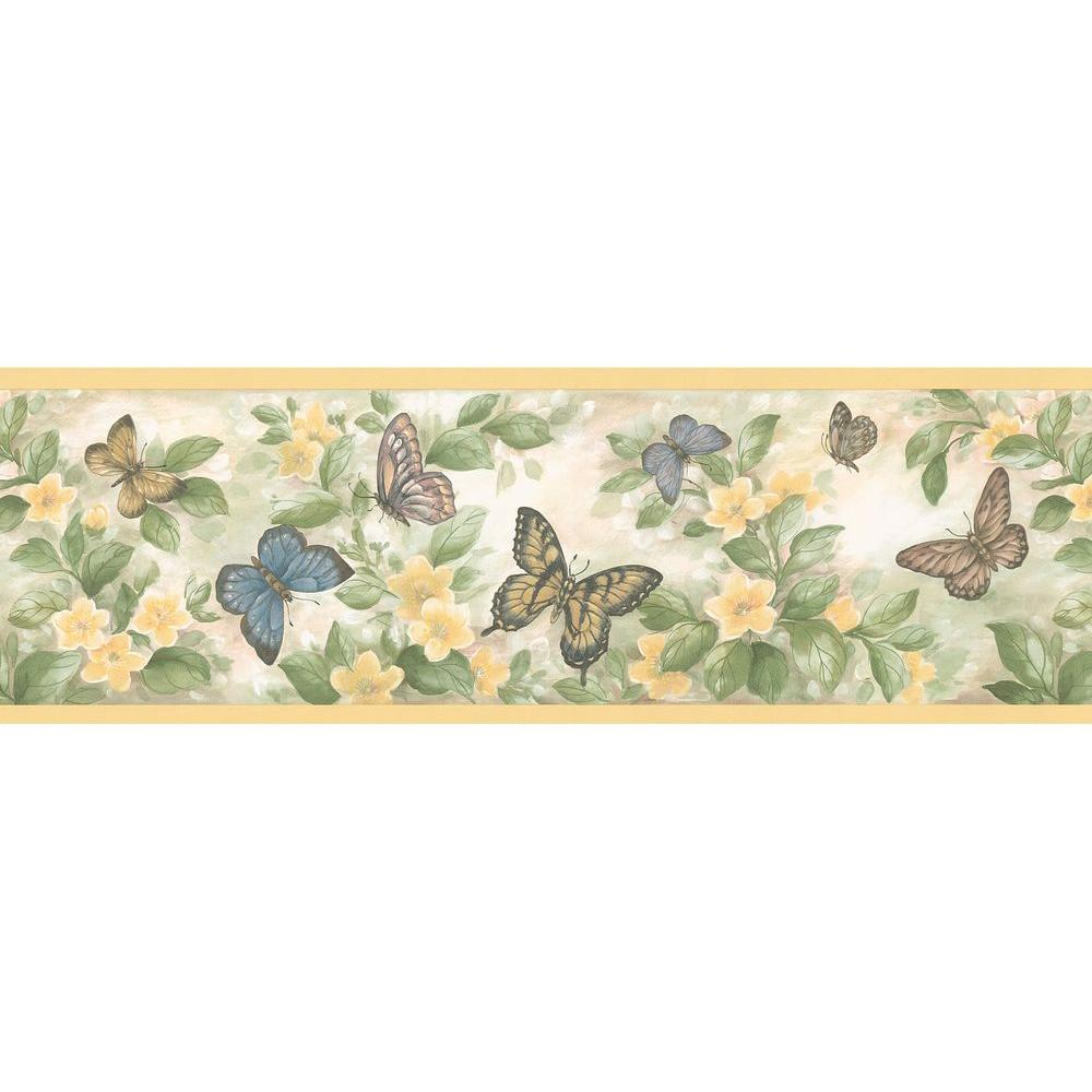 Brewster Kitchen Bath Bed Resource Iii Butterflies - Borders With Butterflies , HD Wallpaper & Backgrounds