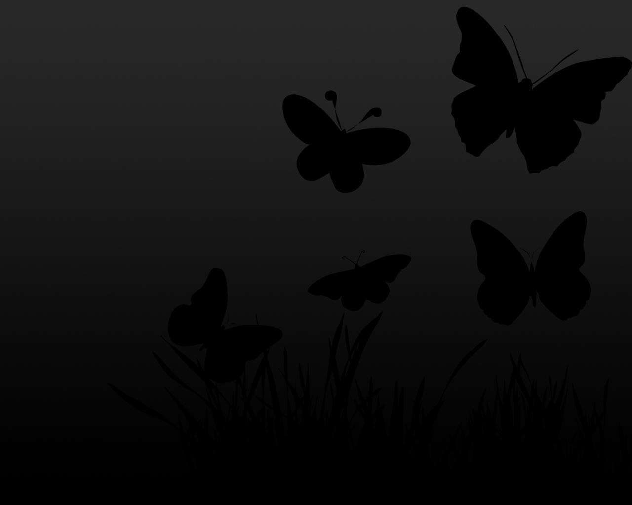 Black Butterfly Wallpaper - Butterflies Wallpaper Black And White , HD Wallpaper & Backgrounds