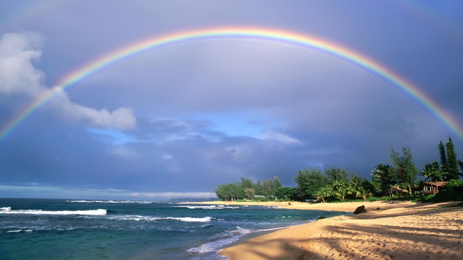 Nature Wallpaper Free Download - Double Rainbow , HD Wallpaper & Backgrounds