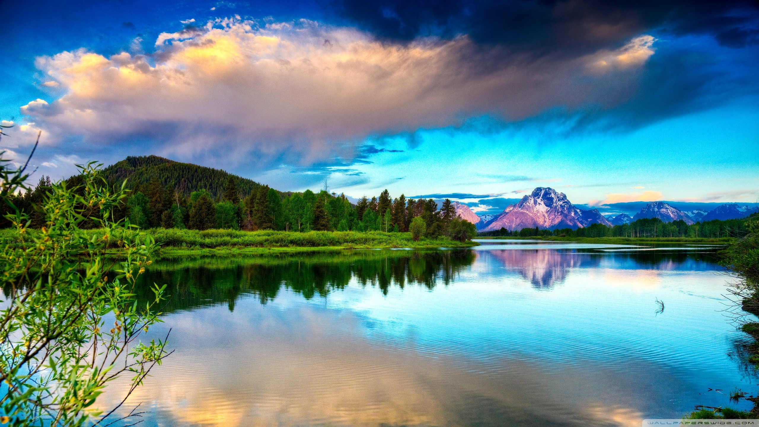 Beautiful, Scenery, Widescreen, High, Quality, Wallpaper, - Landscape Oil Painting Nature , HD Wallpaper & Backgrounds