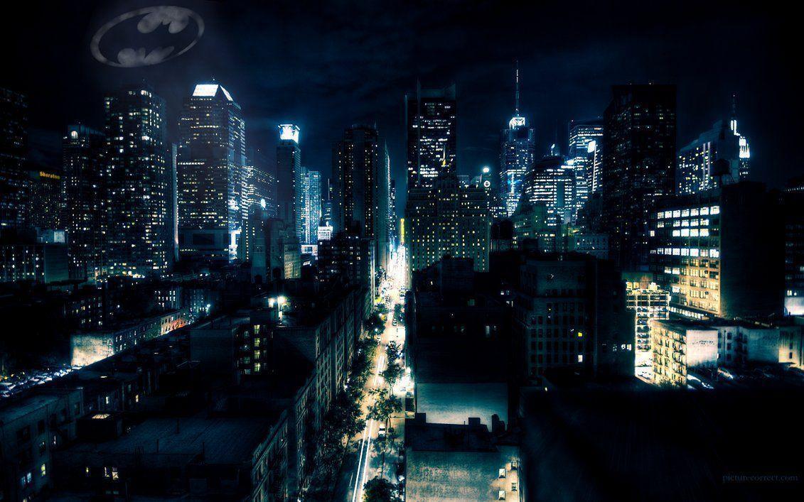 Gotham City At Night 2301281 Hd Wallpaper Backgrounds