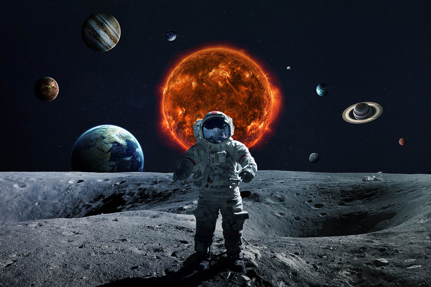 Man On Moon 2304105 Hd Wallpaper Backgrounds Download