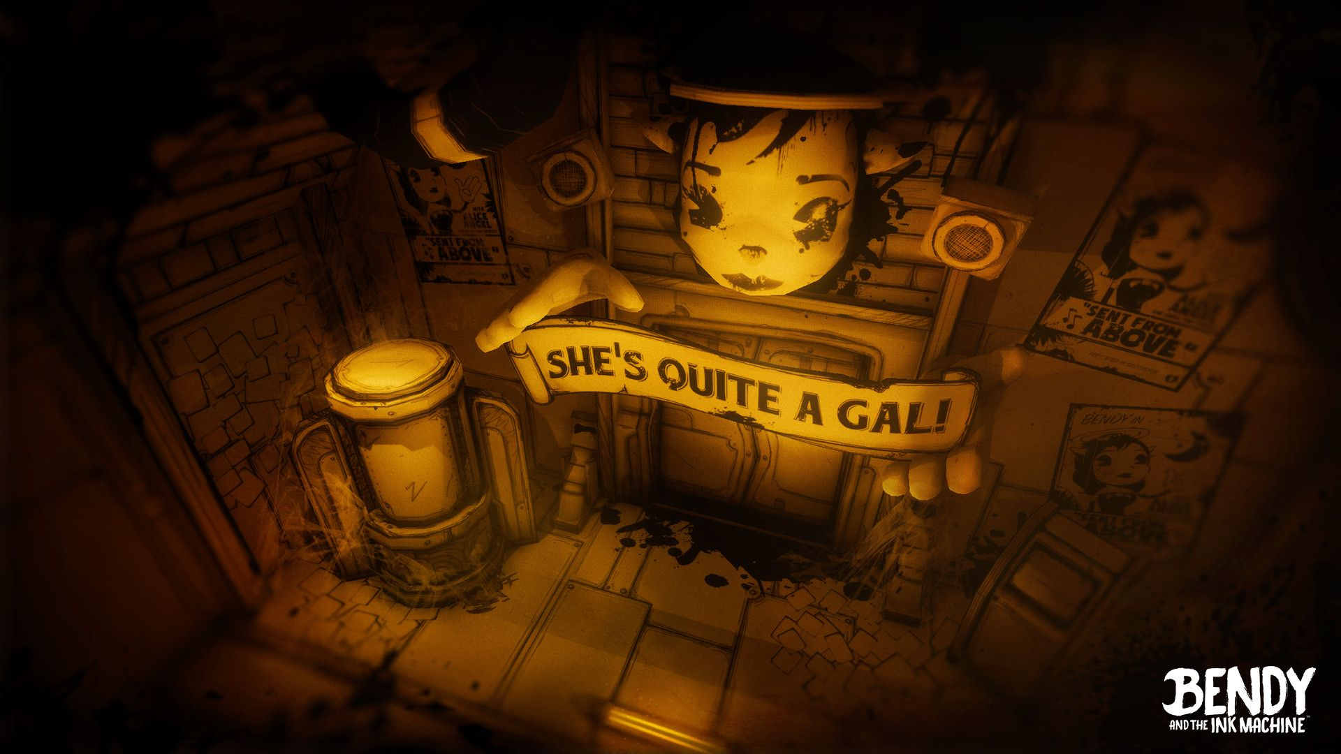 Bendy And The Ink Machine Gameplay 2332974 Hd Wallpaper