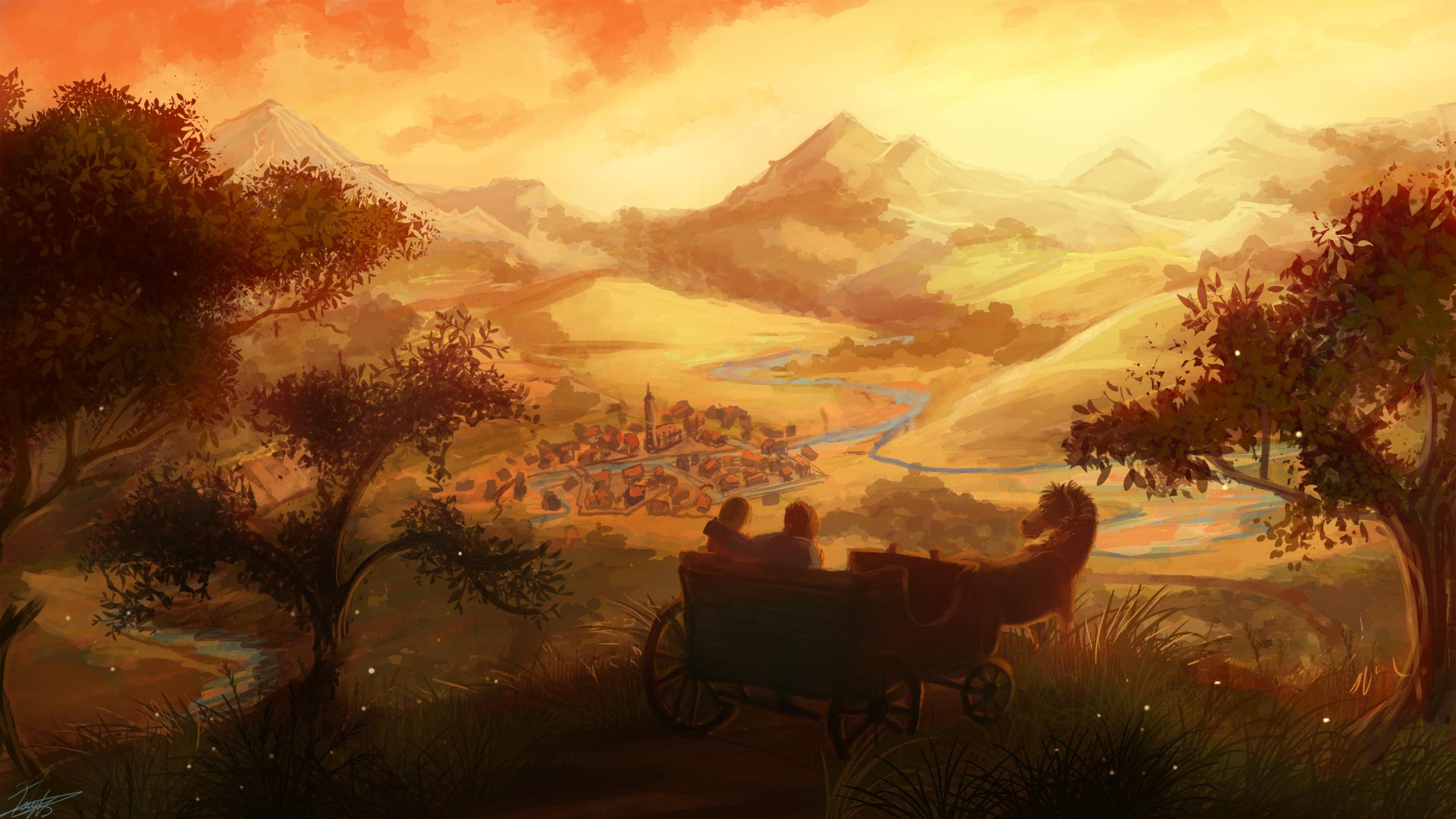 Fantasy Art Wagon , HD Wallpaper & Backgrounds