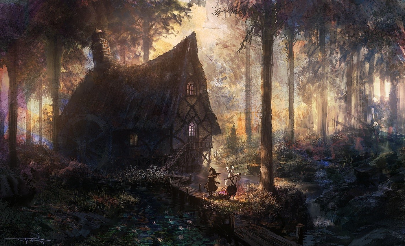 Fantasy House In Forest , HD Wallpaper & Backgrounds