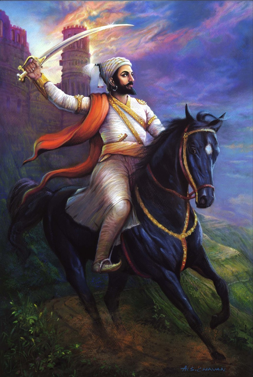 Shivaji Maharaj On Horse , HD Wallpaper & Backgrounds