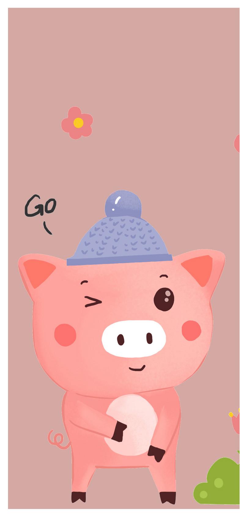Babi Kecil Ponsel Yang Lucu HD Wallpaper