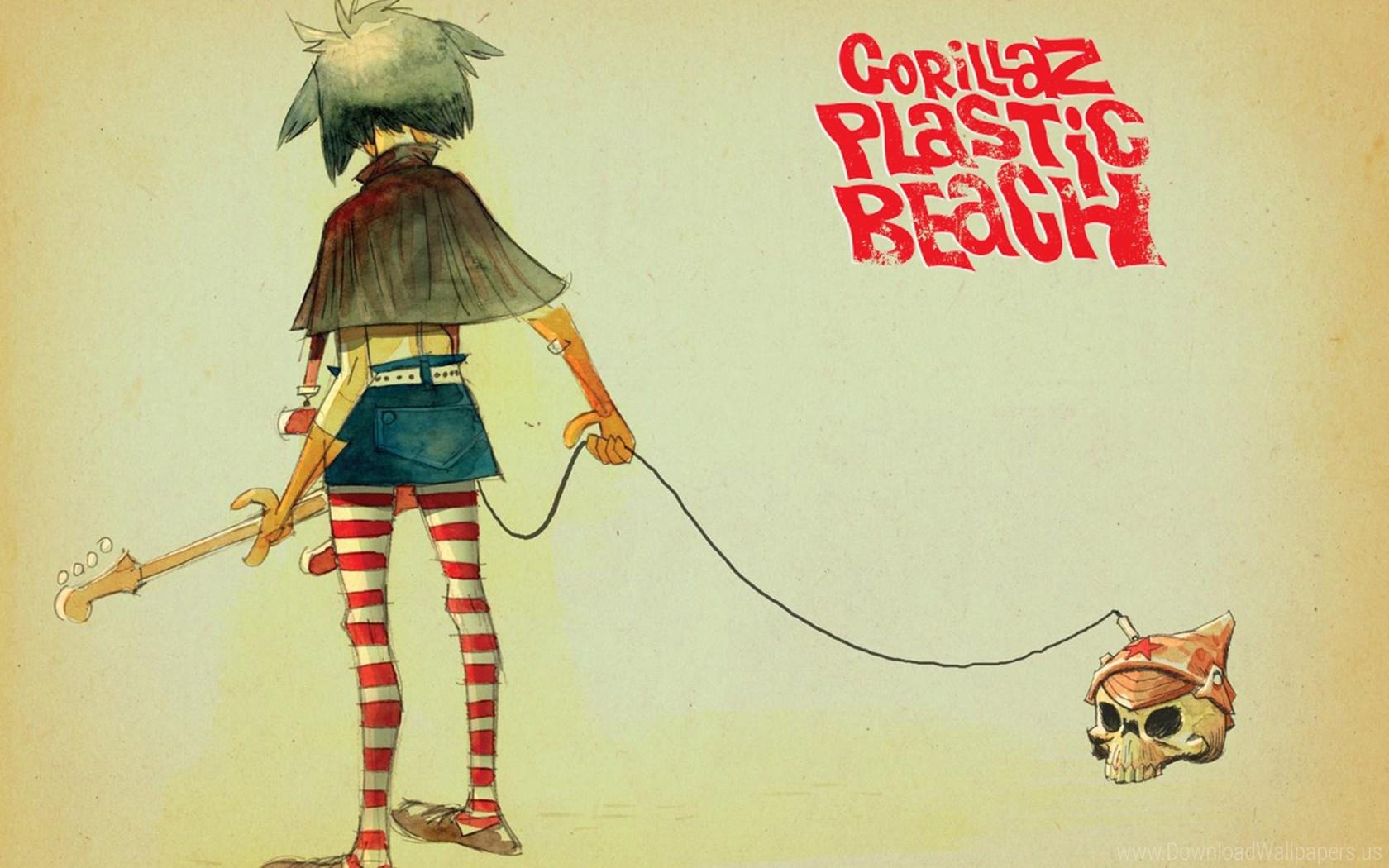 Gorillaz Noodle Plastic Beach , HD Wallpaper & Backgrounds