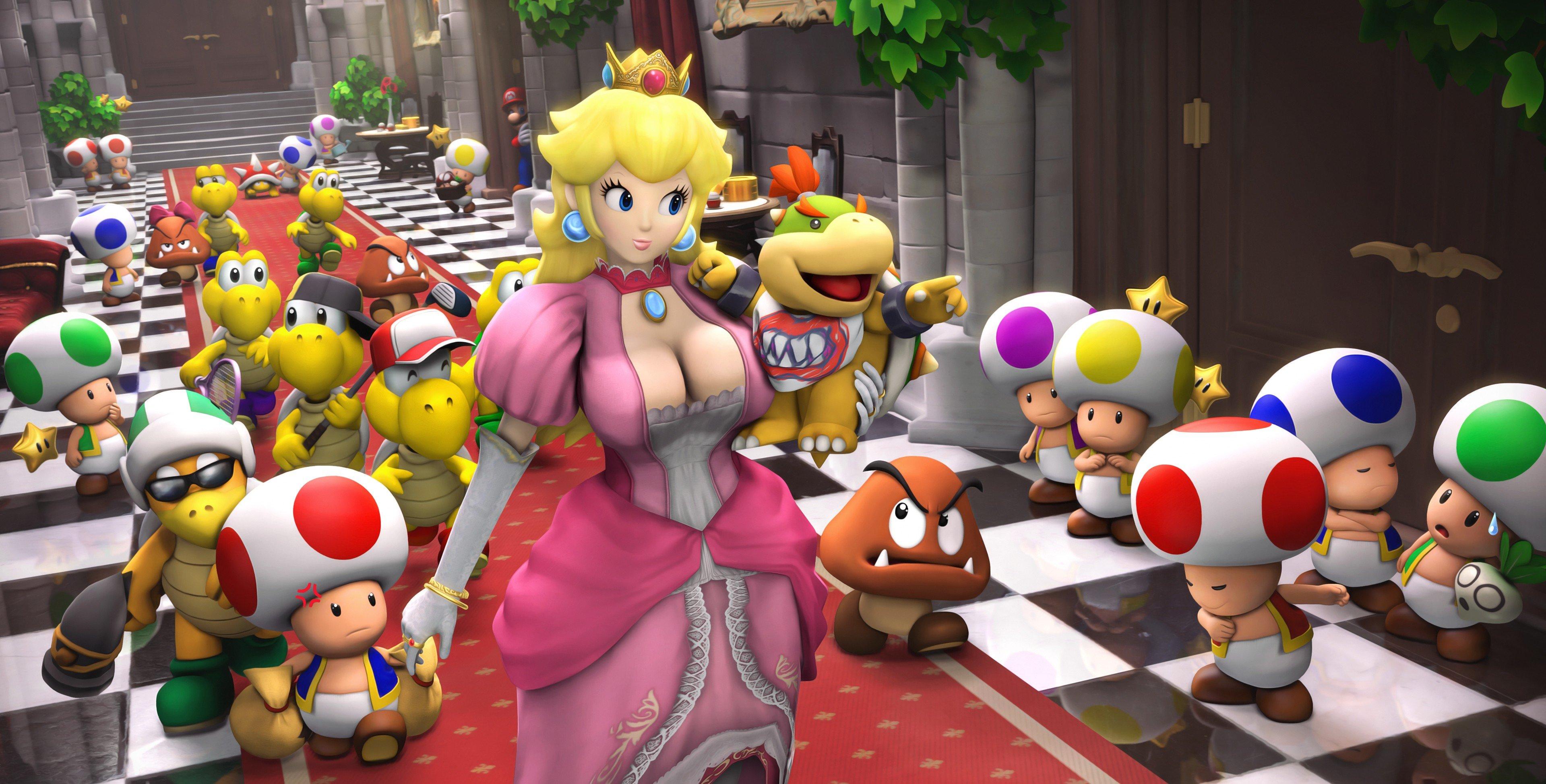 Princess Peach Art 2363469 Hd Wallpaper Backgrounds