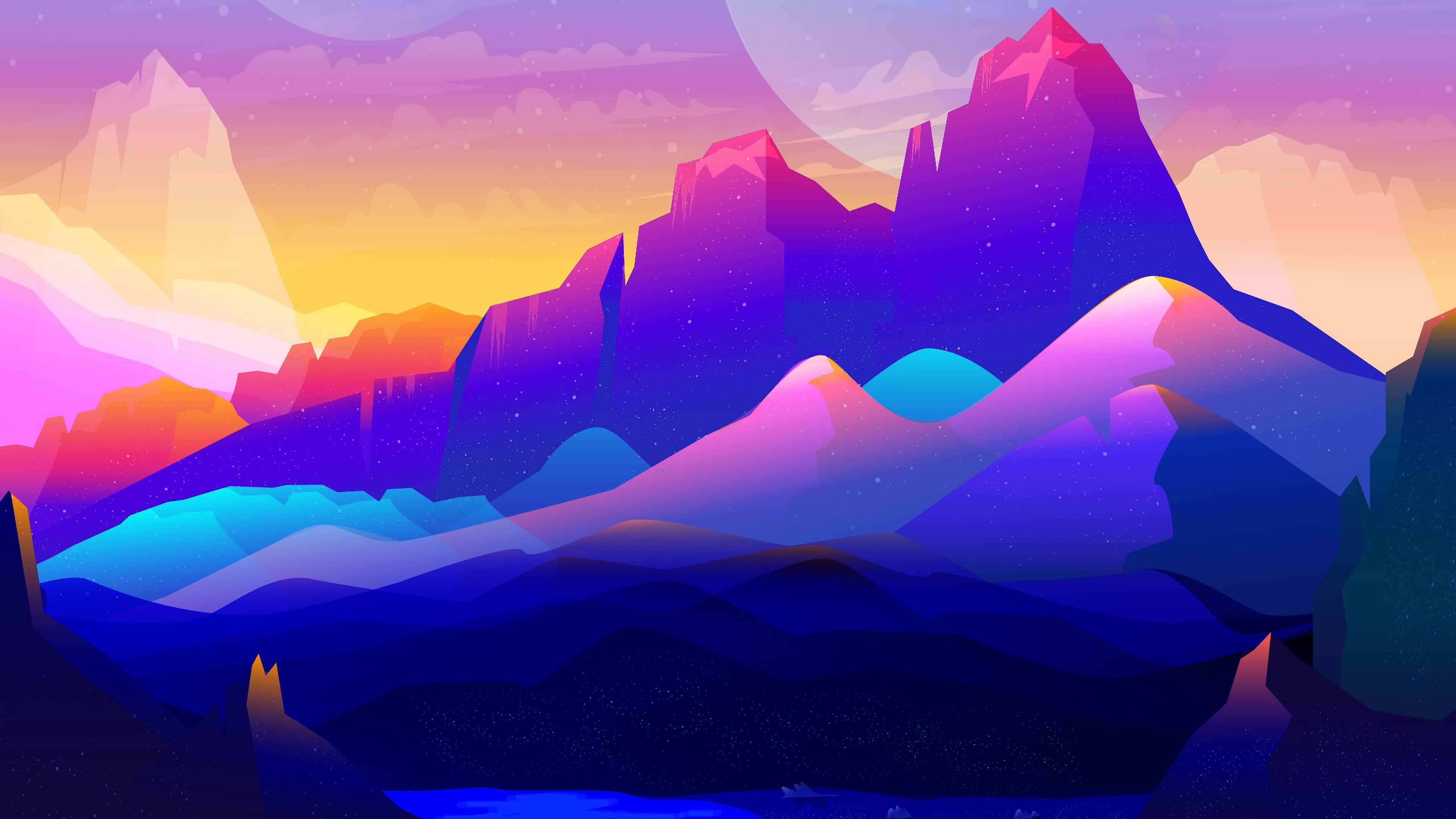 Minimalistic Landscape Wallpaper 1080p , HD Wallpaper & Backgrounds