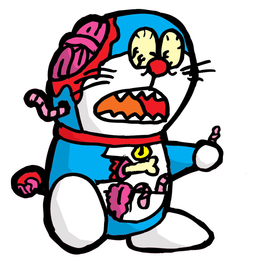 Gambar Zombie Kartun Doraemon HD Wallpaper