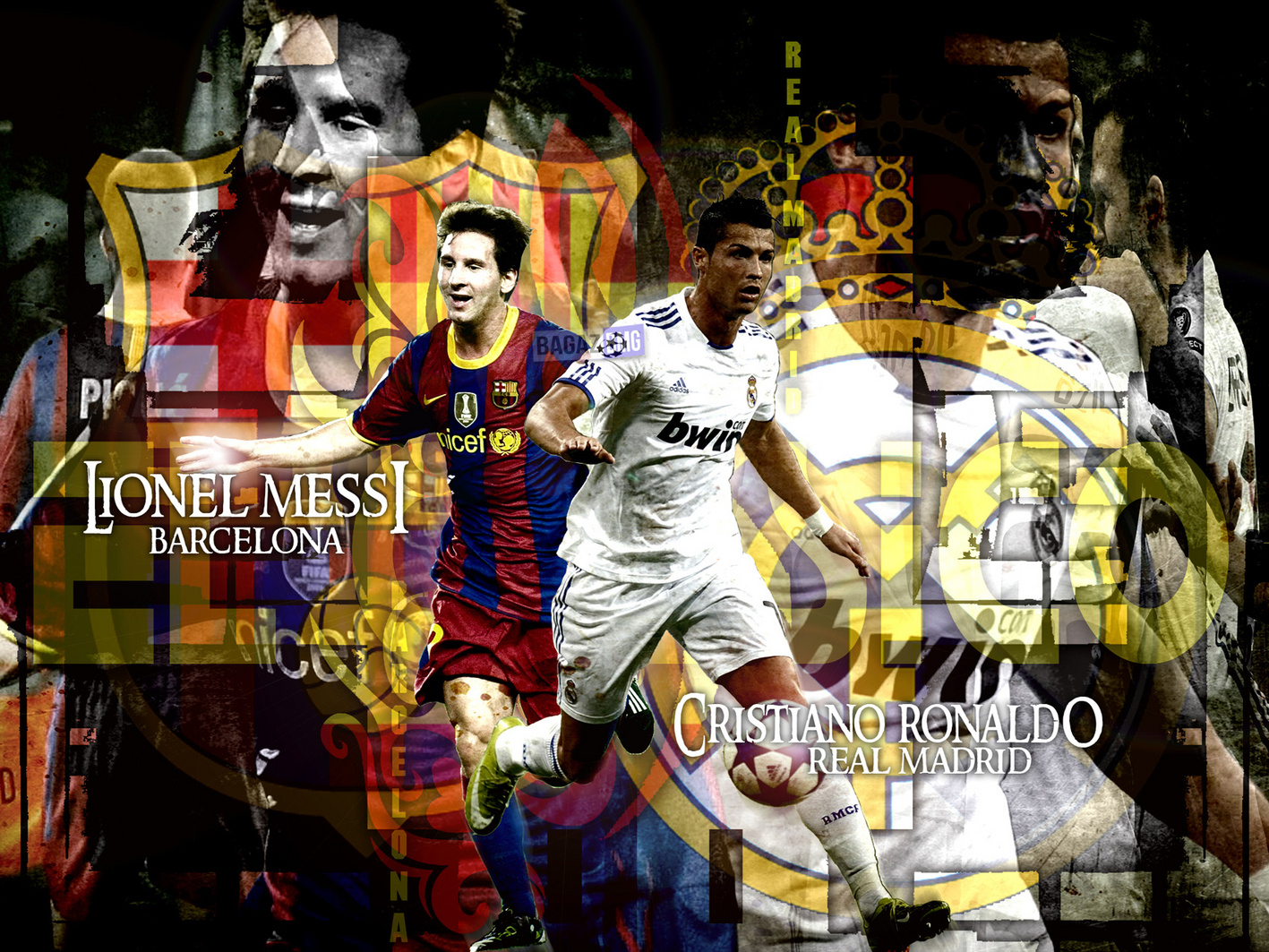 Ronaldo Vs Messi Hd , HD Wallpaper & Backgrounds
