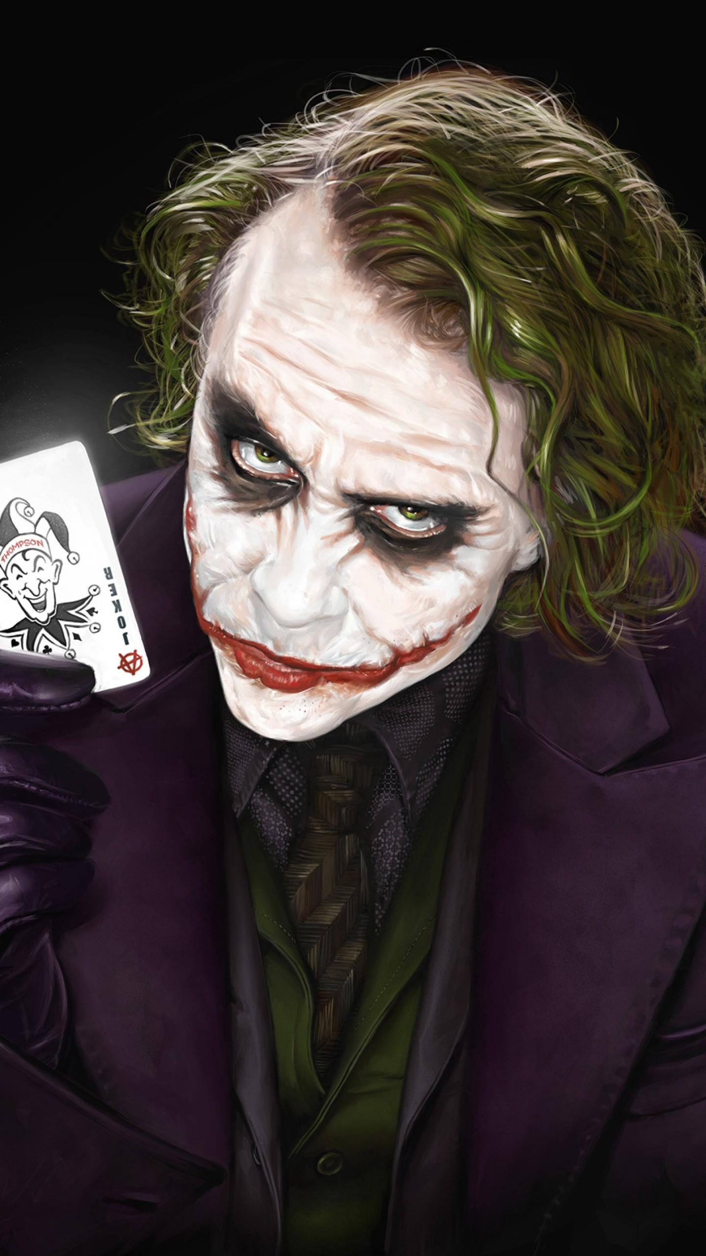 Black/dark / Joker Wallpaper - Dark Knight Joker Hd , HD Wallpaper & Backgrounds