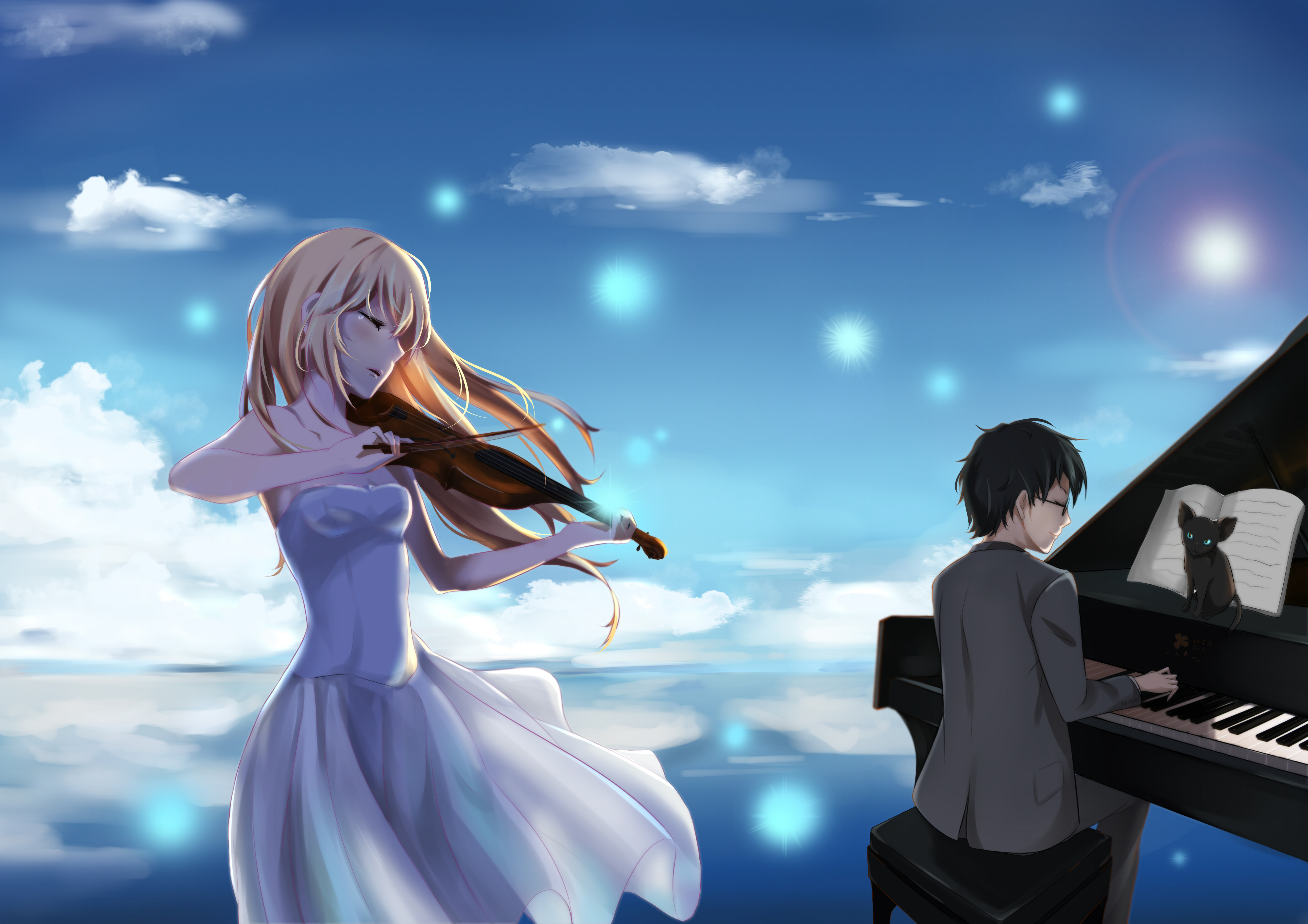 Your Lie In April Backgrounds Hd 2389687 Hd Wallpaper