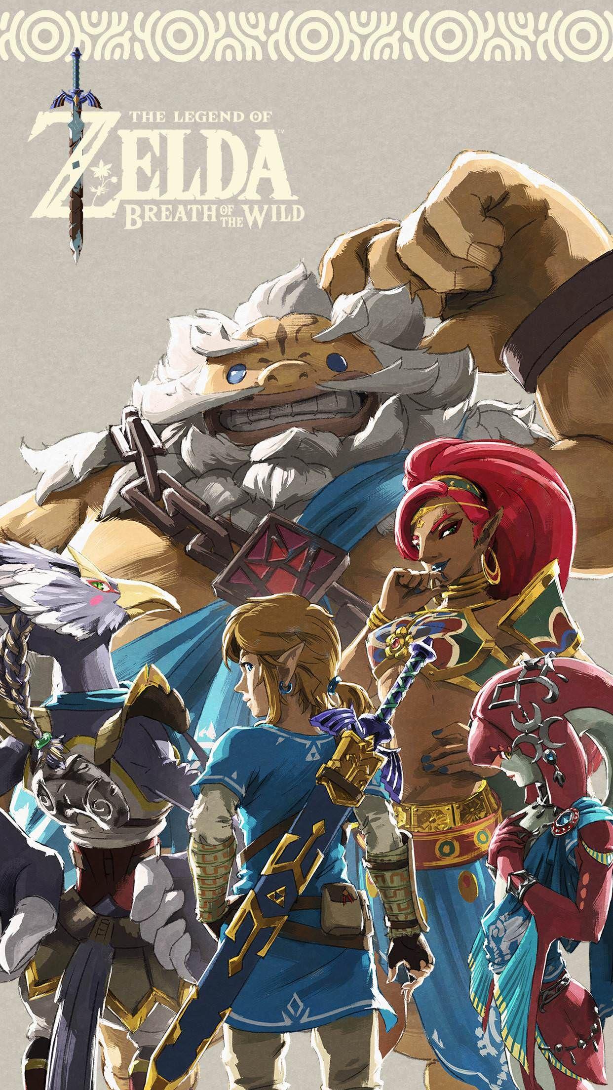 Legend Of Zelda Breath Of The Wild Champions , HD Wallpaper & Backgrounds