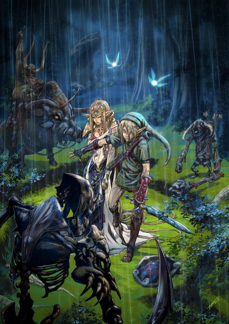 Zelda Twilight Princess Art 2390514 Hd Wallpaper