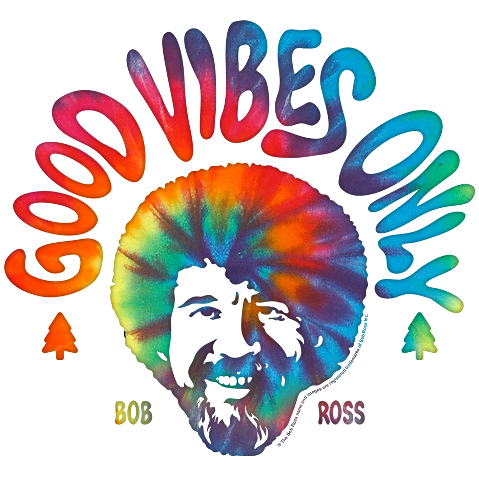 Good Vibes Only Bob Ross Shirt 2394260 Hd Wallpaper