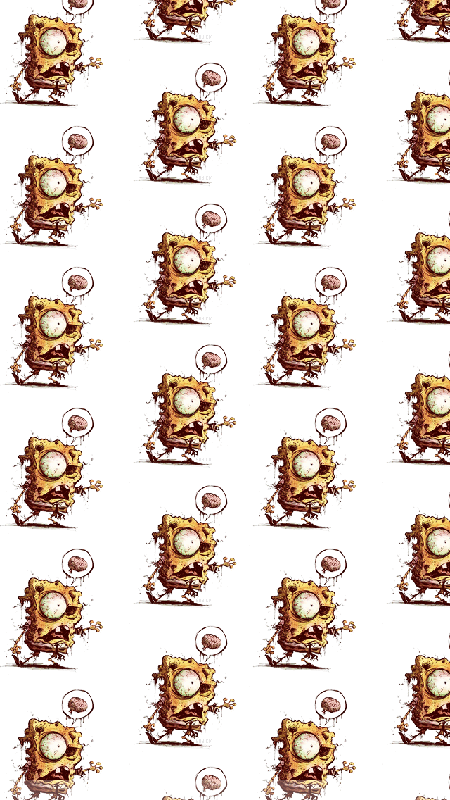 Compatible With All Iphone Devices - Spongebob Zombie , HD Wallpaper & Backgrounds