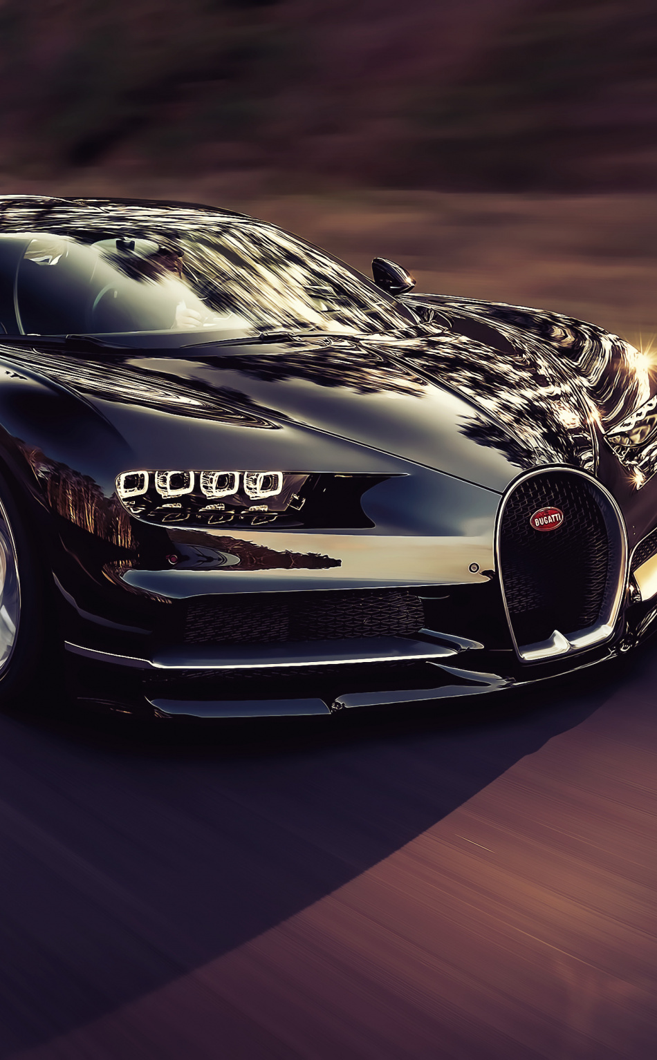 Luxury Car Bugatti Chiron On Road Wallpaper Bugatti Chiron