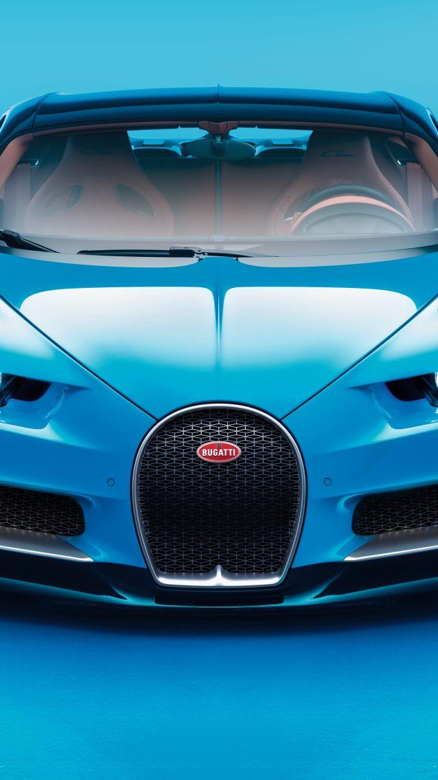 Bugatti Chiron Geneva Auto Show 2017 Hypercar Blue Bugatti Car 247535 Hd Wallpaper Backgrounds Download