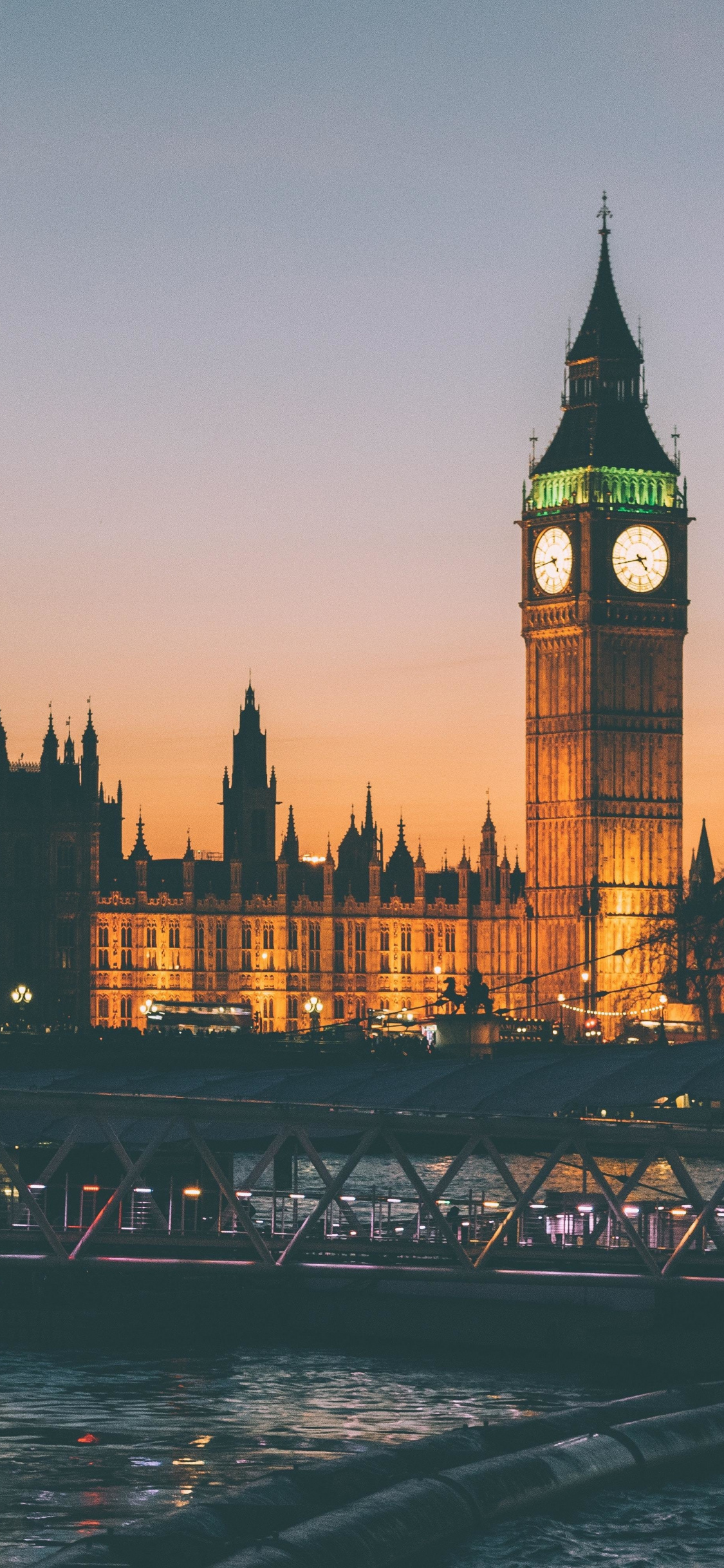 Clock Tower Architecture Big Ben London Night 248022