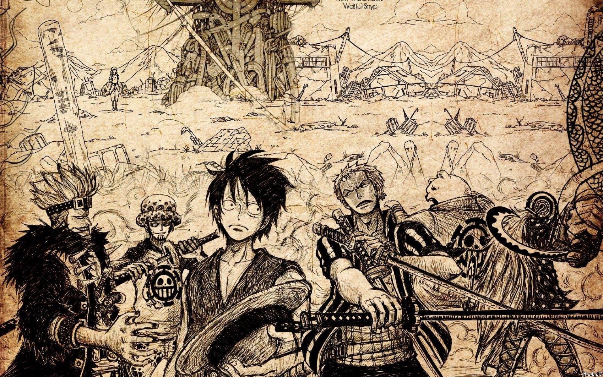 One Piece Wallpaper, Monkey D - Imagen Fondo De Escritorio One Piece , HD Wallpaper & Backgrounds