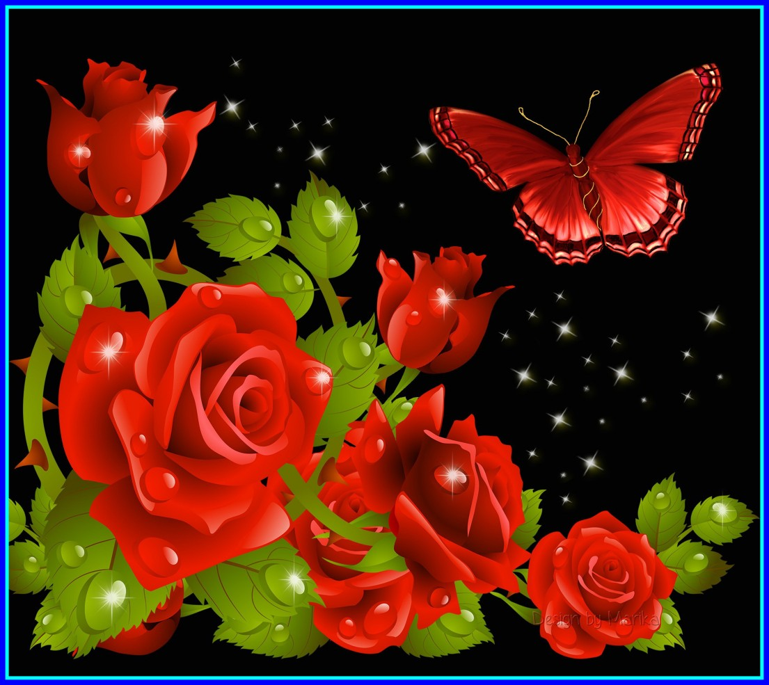 Butterfly Wallpaper Mobile - Red Beautiful Flower Butterfly , HD Wallpaper & Backgrounds