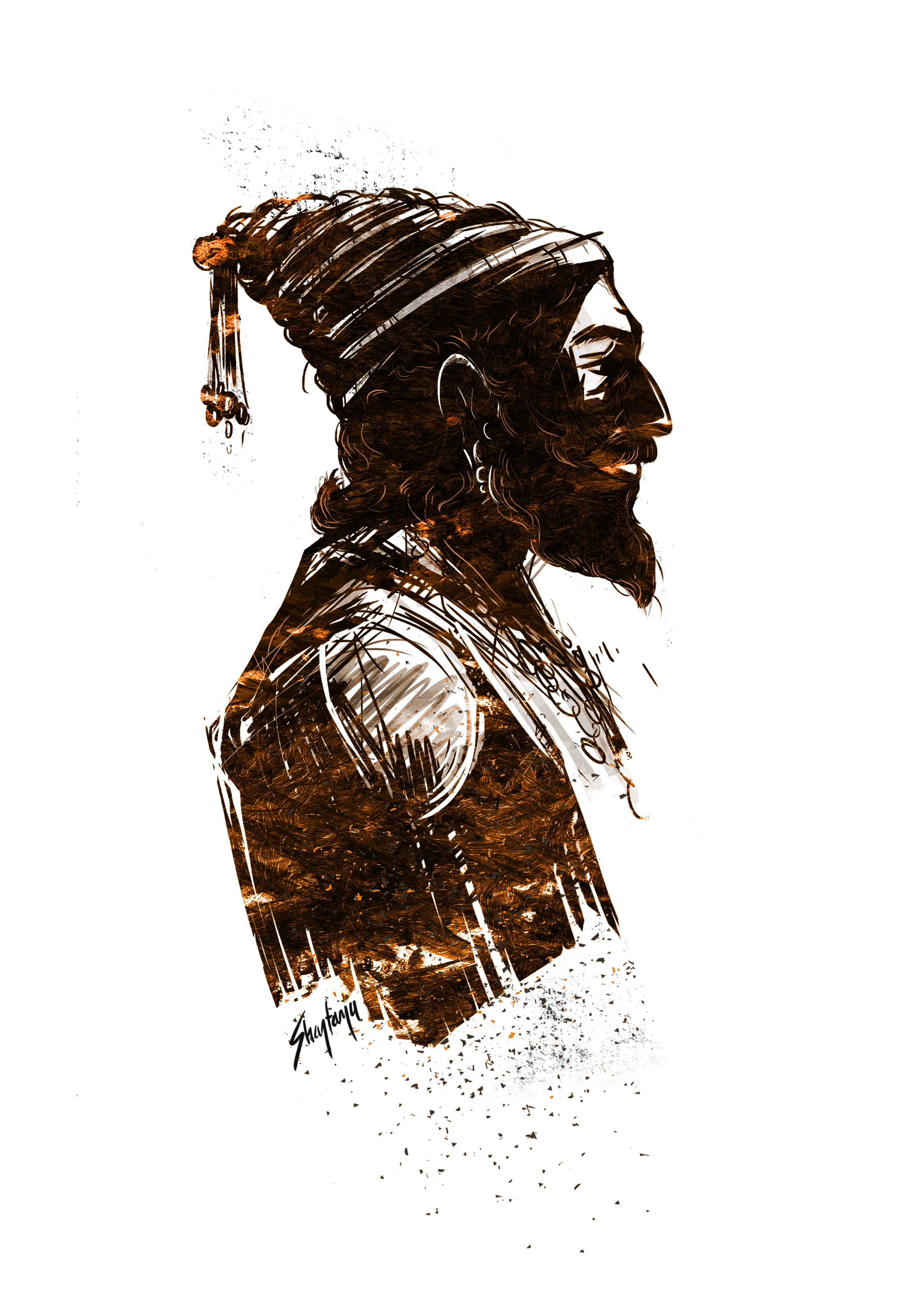 Shivaji Maharaj Shivaji Maharaj Tattoo, Shivaji Maharaj - Shivaji Maharaj Powada Marathi , HD Wallpaper & Backgrounds