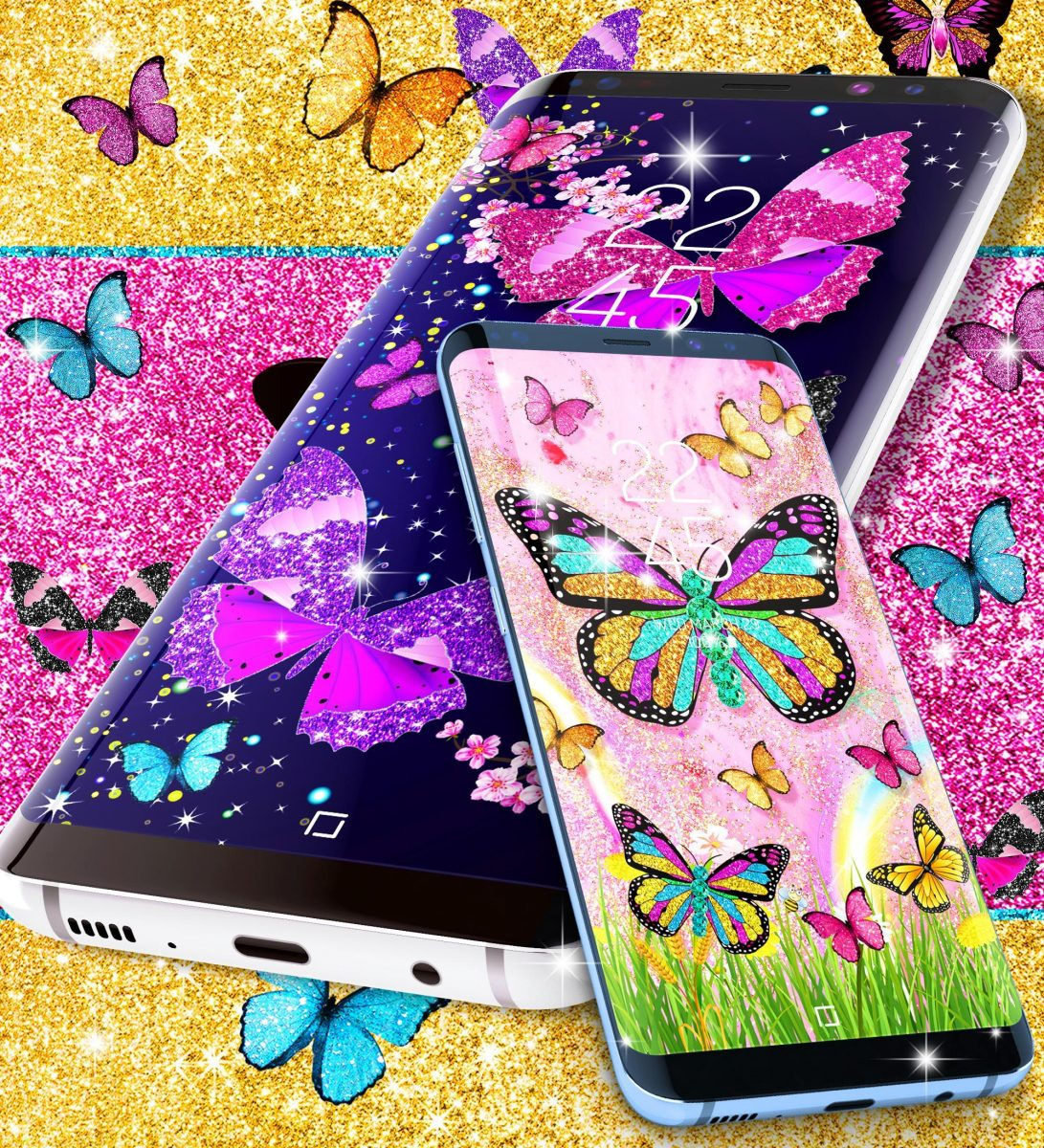 Glitter Butterfly Live Wallpaper For Android Apk Download - Smartphone , HD Wallpaper & Backgrounds