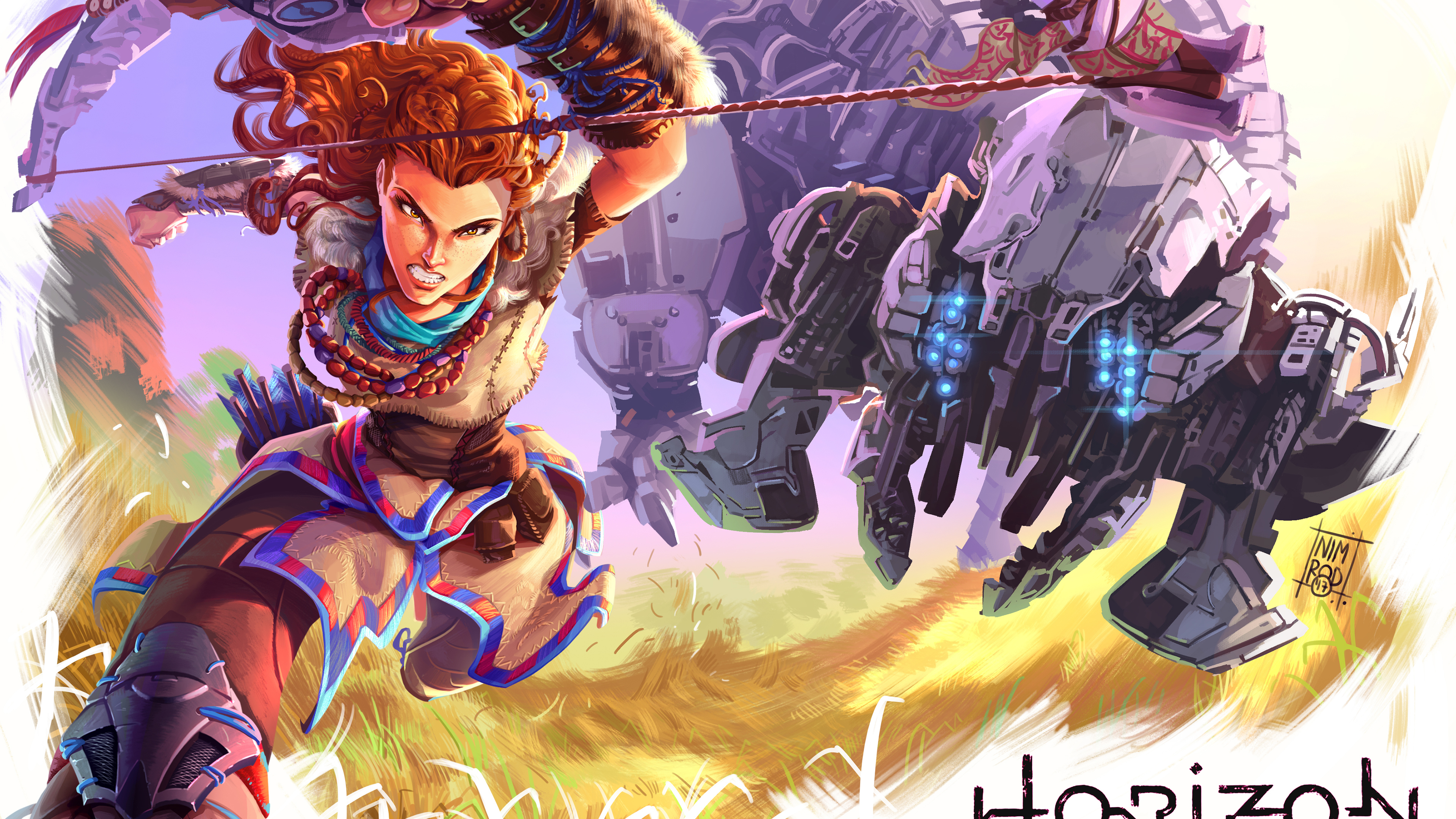 Horizon Zero Dawn 4k Fanart - Horizon Zero Dawn Fan Art , HD Wallpaper & Backgrounds