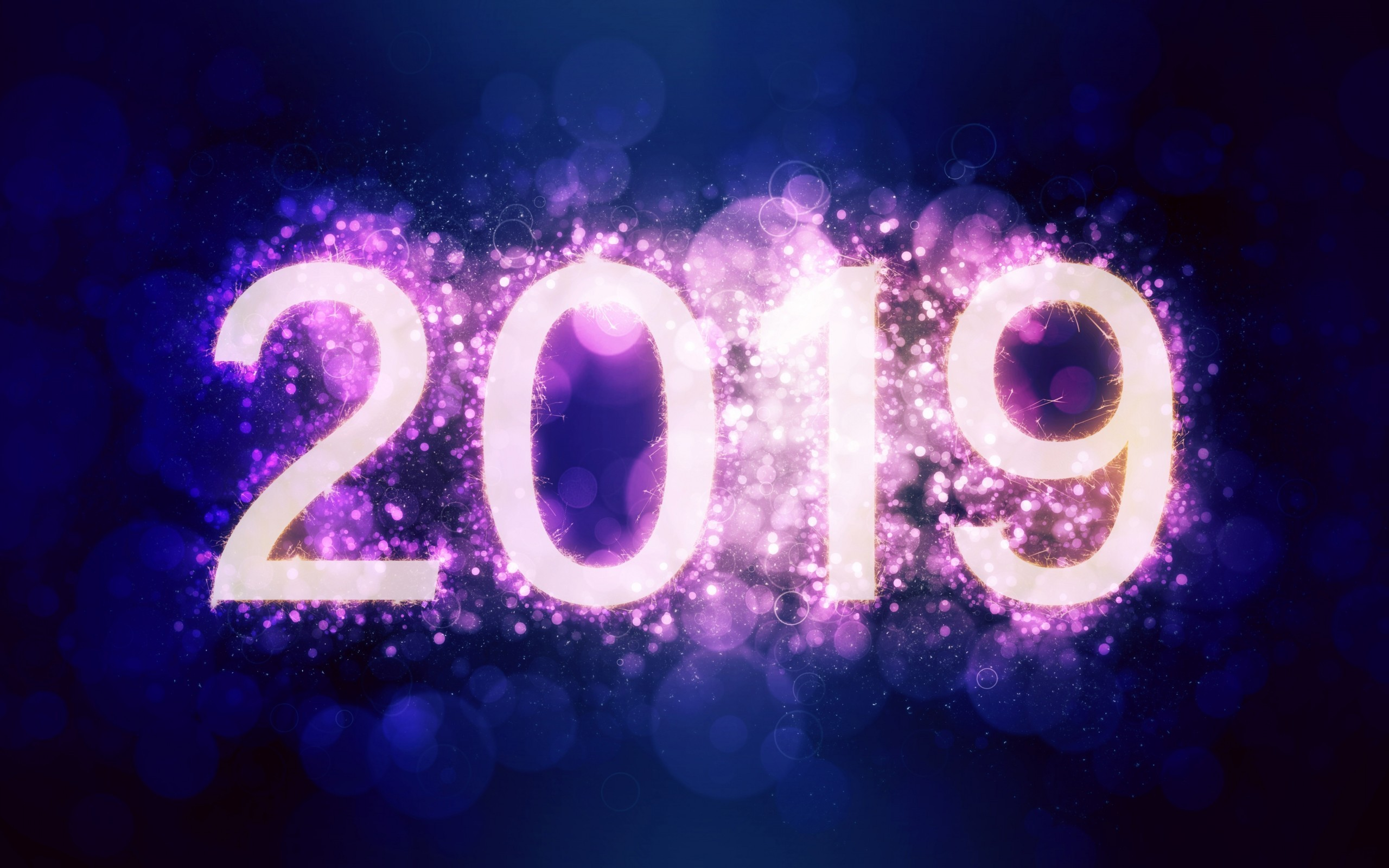 Happy New Year 2019, Digital Art, Numbers, Merry Christmas - My 2019 , HD Wallpaper & Backgrounds
