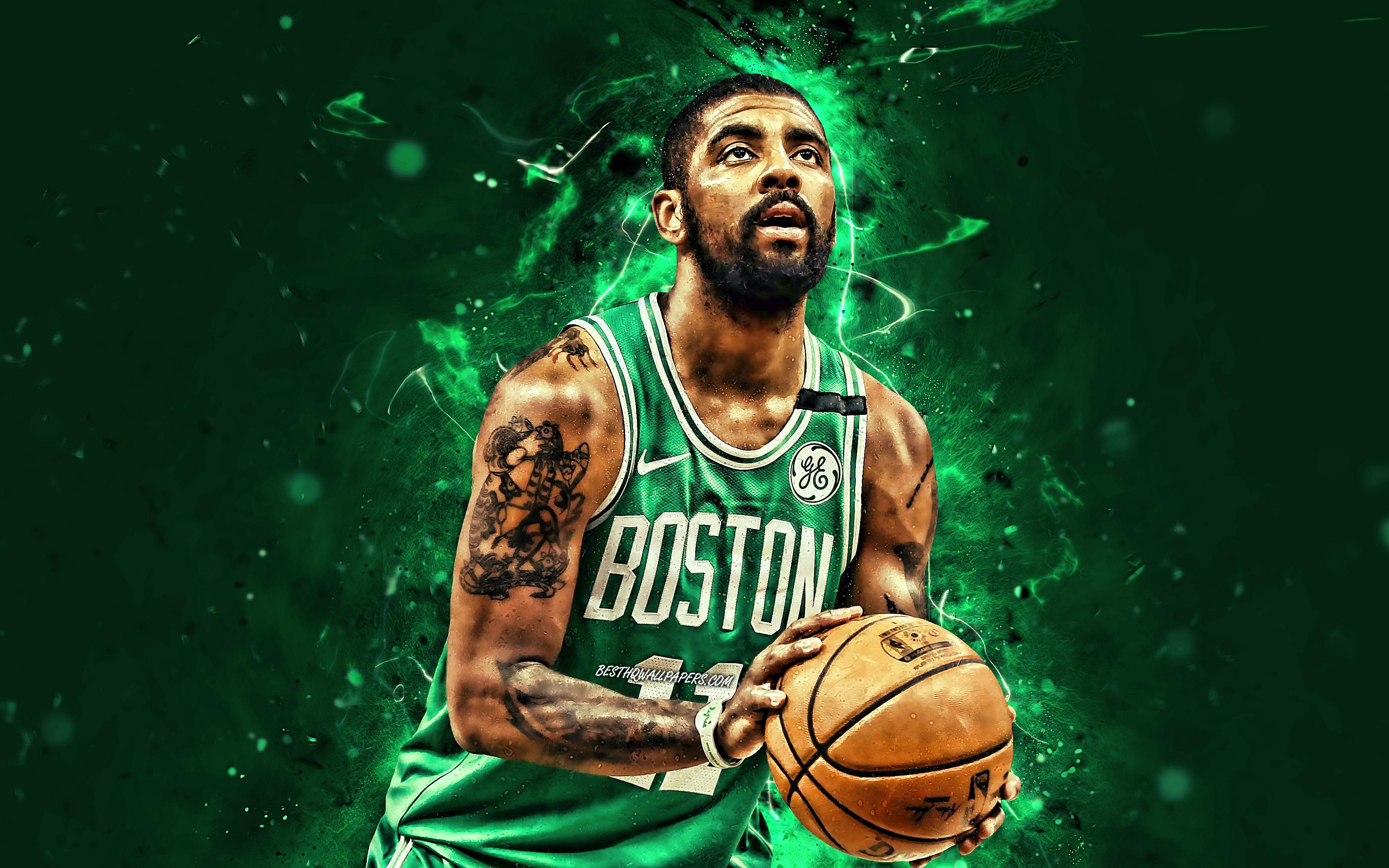 Kyrie Irving, 4k, Nba, Boston Celtics, Basketball Stars, - Kyrie Irving 4k Pc , HD Wallpaper & Backgrounds