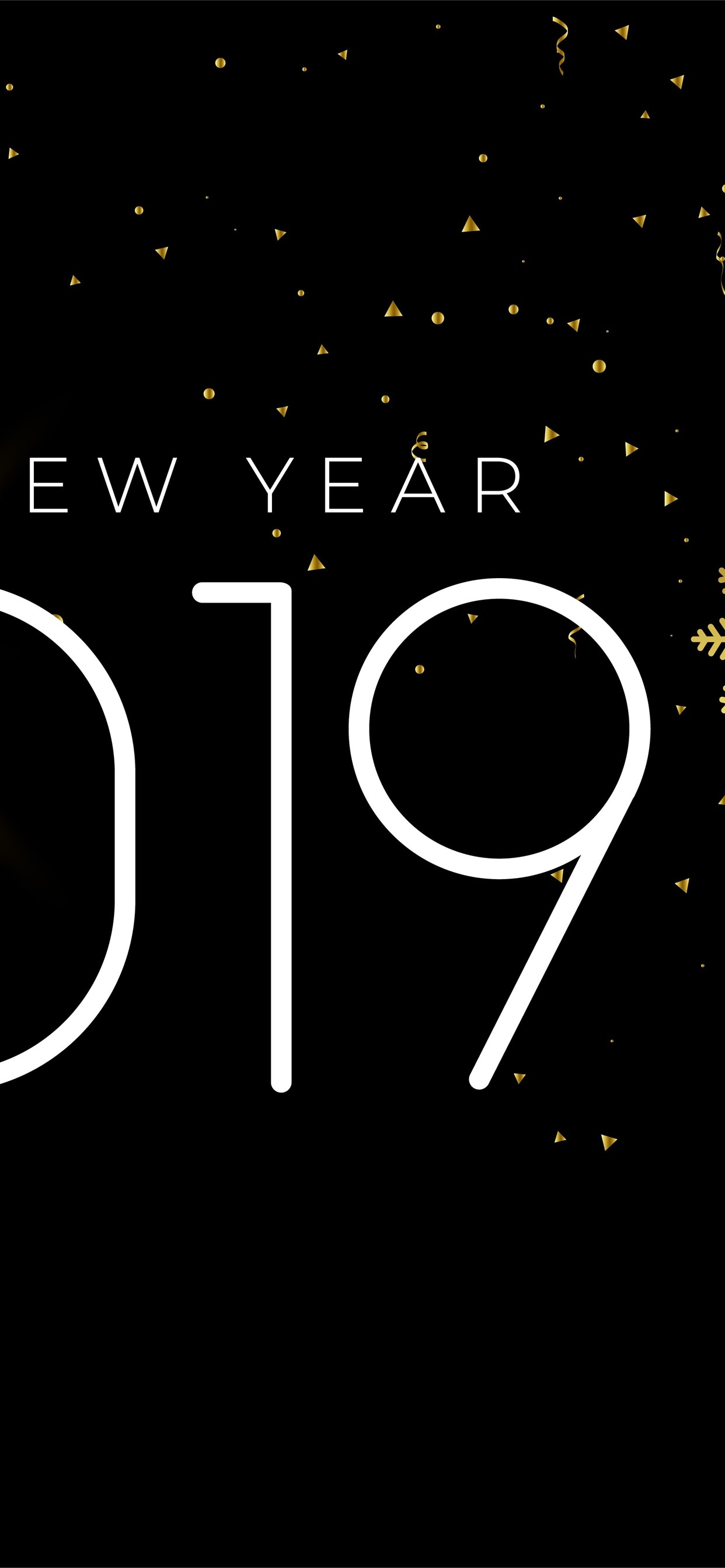 Iphone Wallpaper Happy New Year 2019, Snowflakes, Simple - Happy New Year Simple , HD Wallpaper & Backgrounds