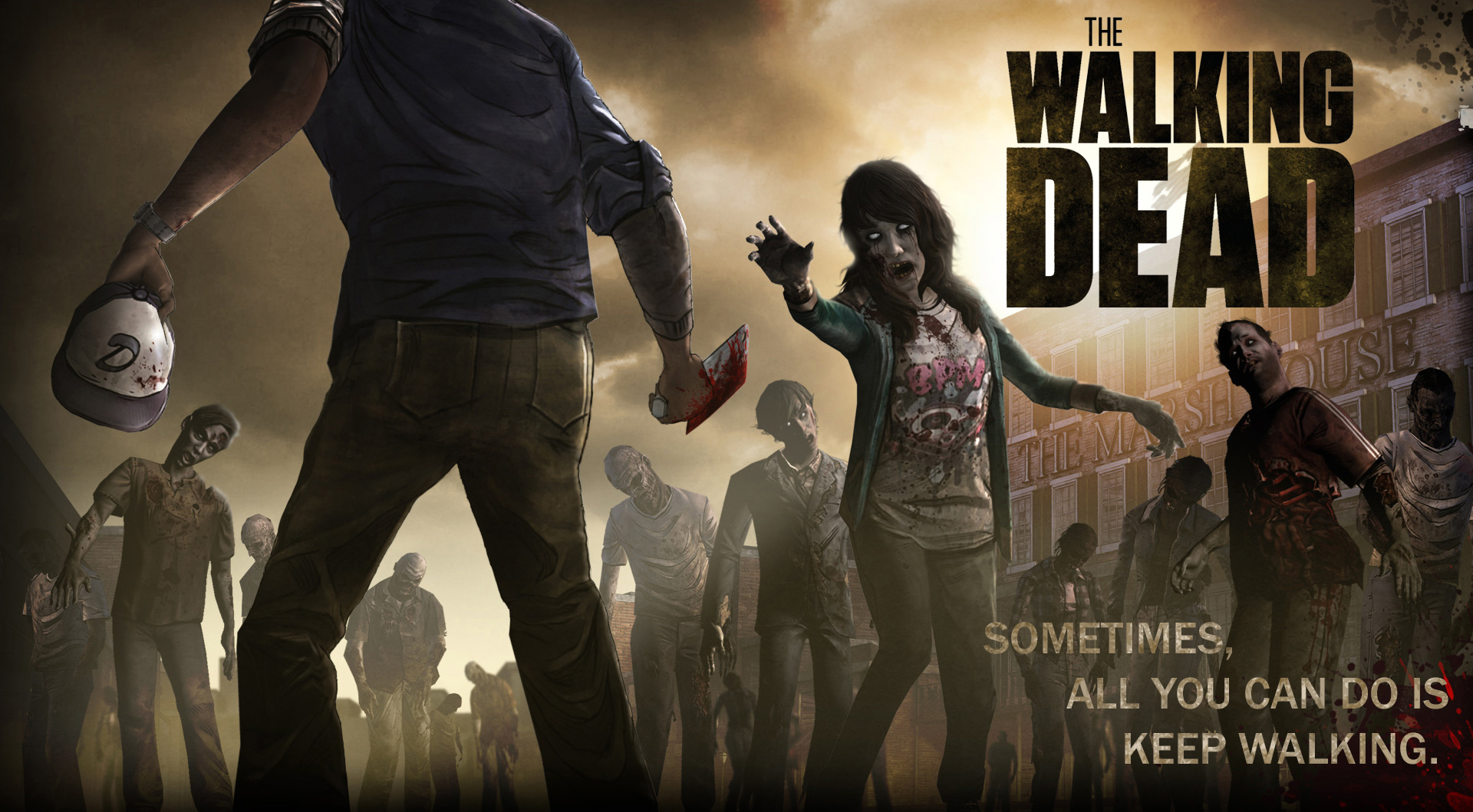 The Walking Dead Free Wallpapers Wallpaper - Walking Dead Telltale Season 1 No Time Left , HD Wallpaper & Backgrounds