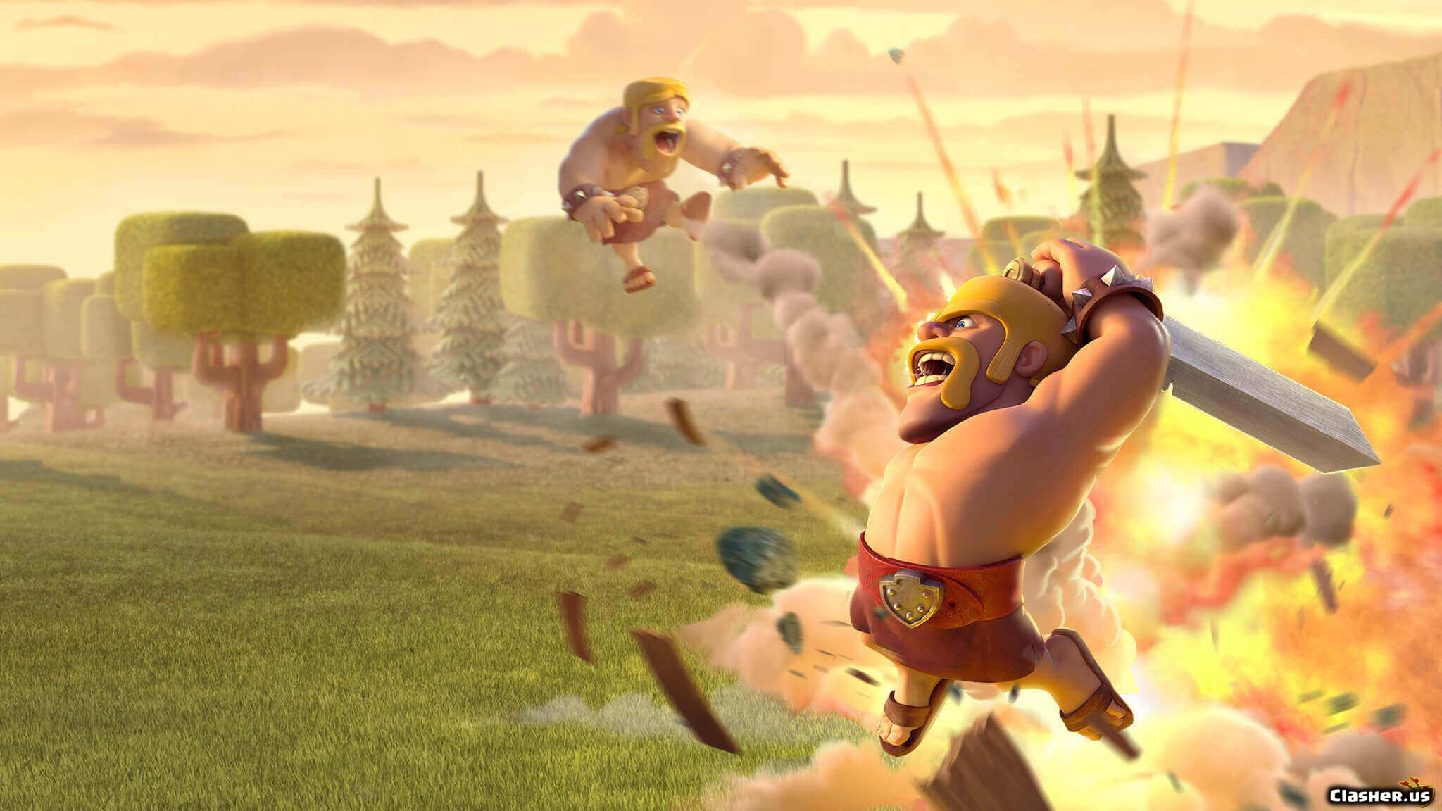 Clash Of Clans Barbarian , HD Wallpaper & Backgrounds