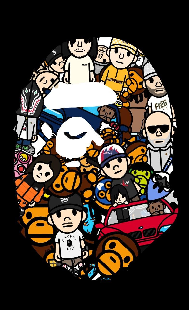 Bape Wallpaper Naruto Supreme Doraemon